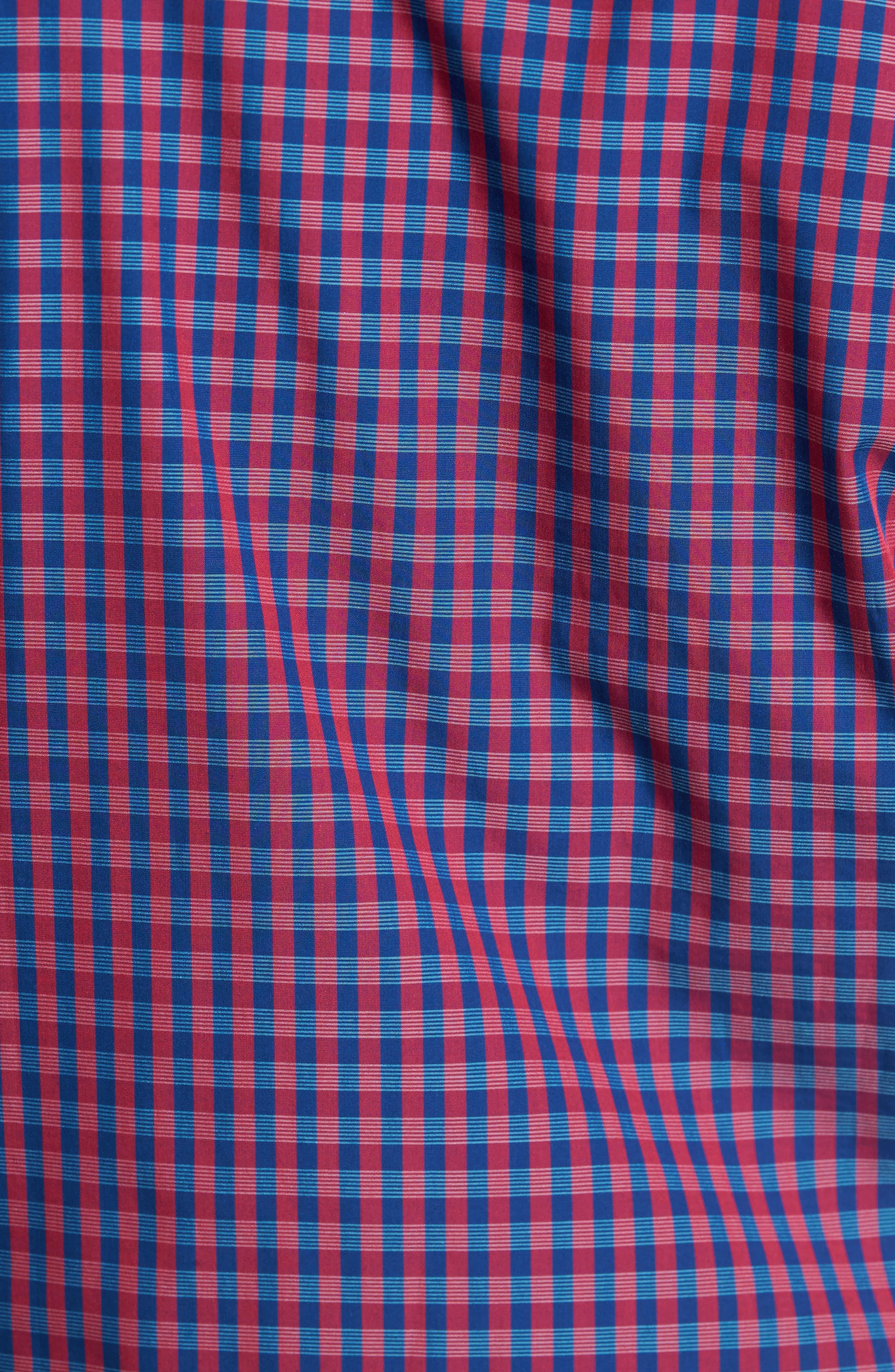 Myles Classic Fit Non-Iron Gingham Sport Shirt,                             Alternate thumbnail 5, color,                             Virtual