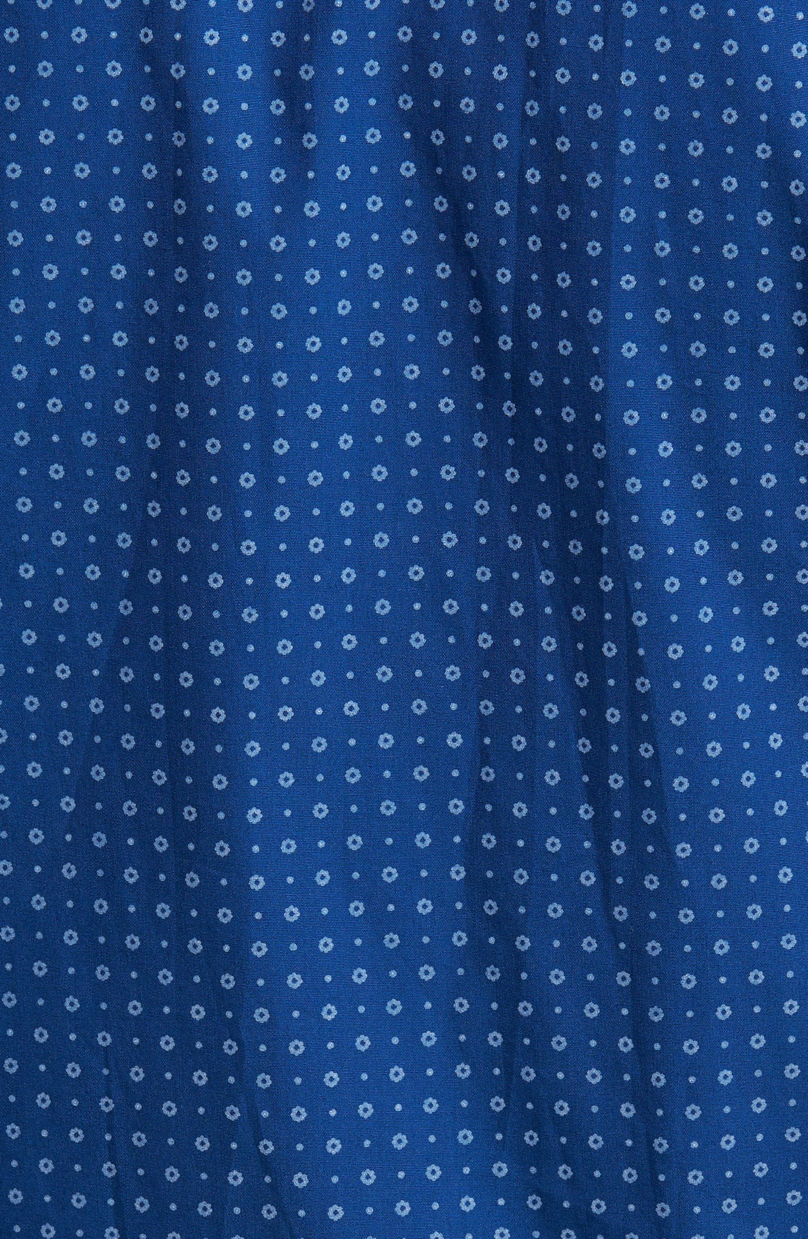 Rowan Print Sport Shirt,                             Alternate thumbnail 5, color,                             Nautical