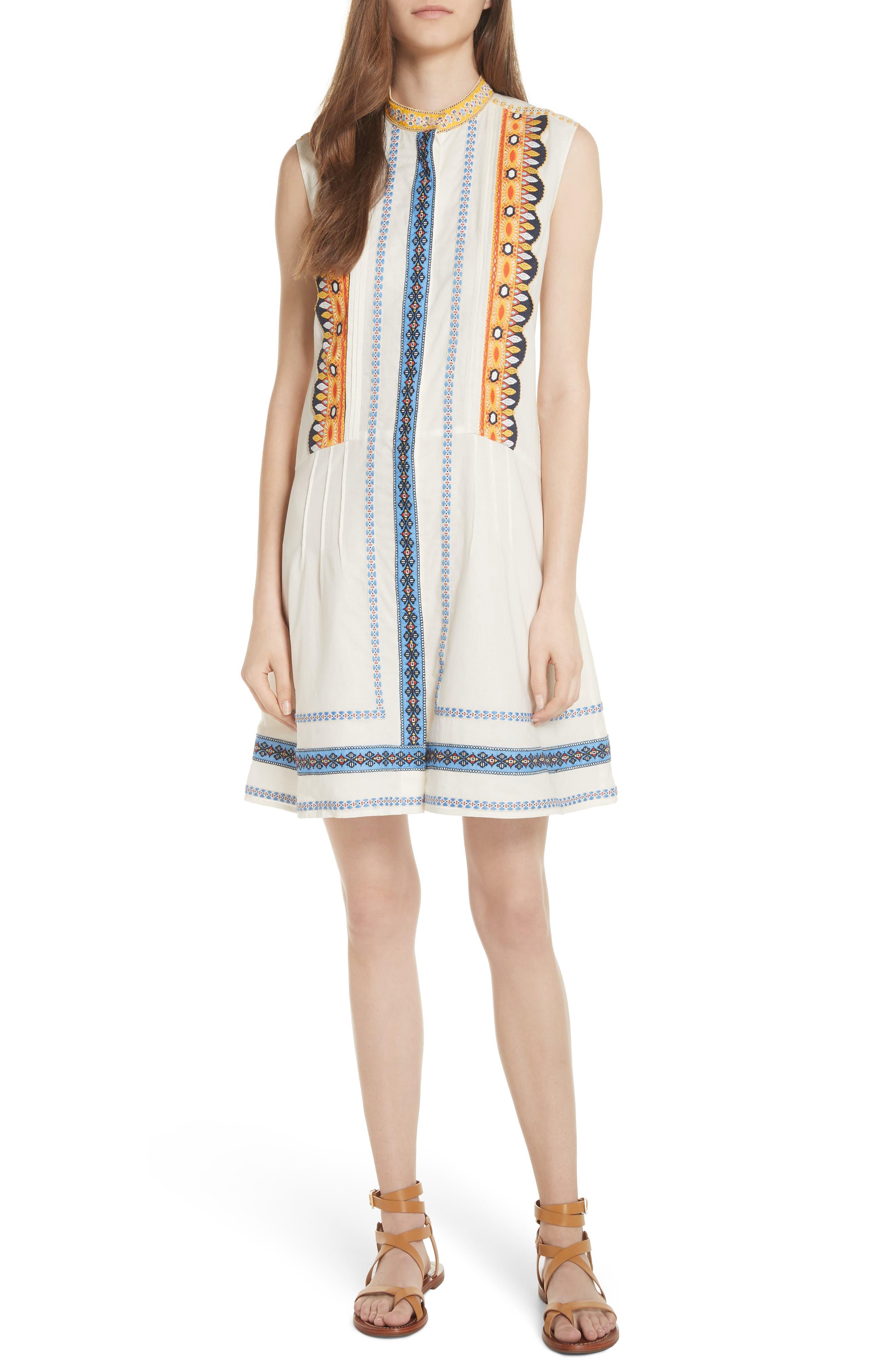 Adriana Sleeveless Shirtdress,                         Main,                         color, New Ivory