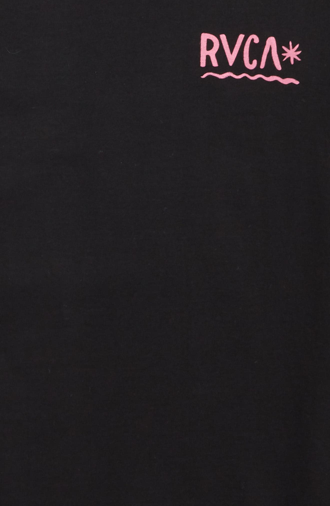 Squiggle Logo T-Shirt,                             Alternate thumbnail 3, color,                             Black