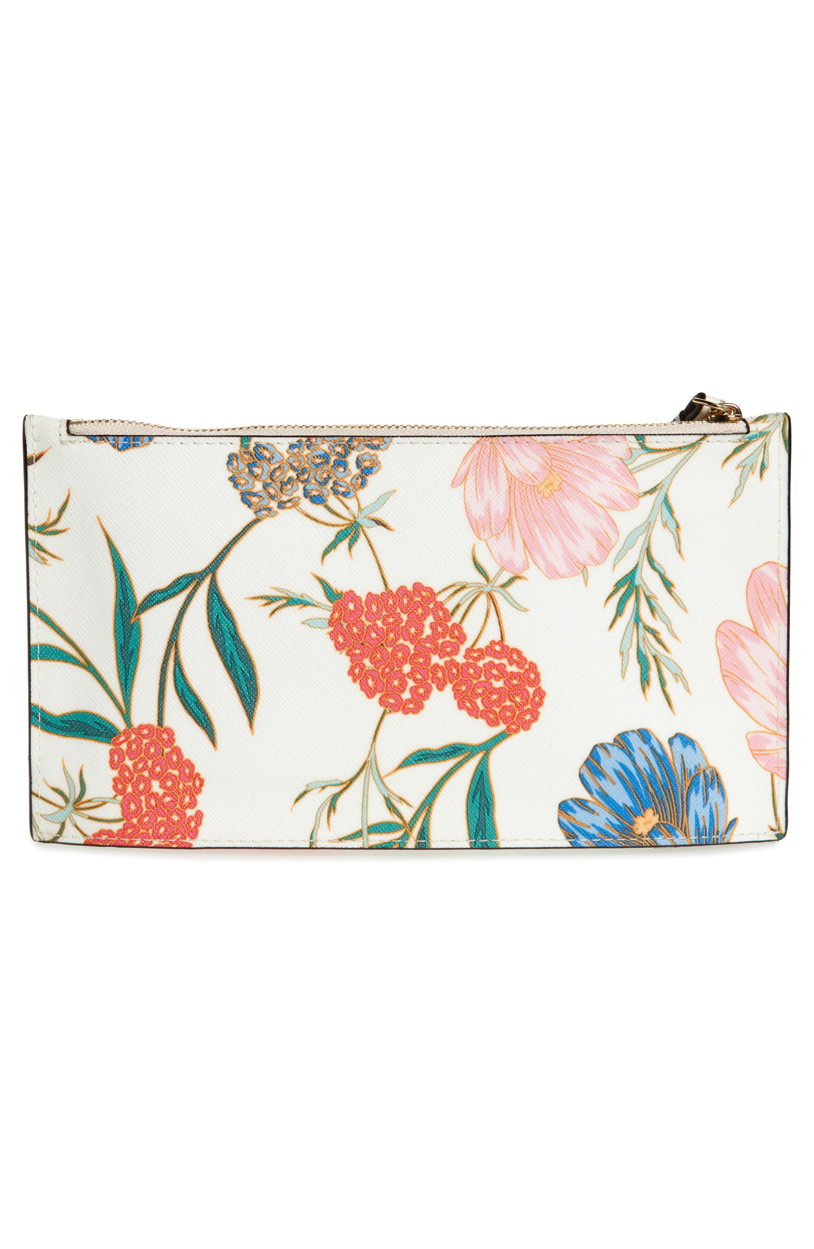 cameron street blossom ariah coated canvas pouch,                             Alternate thumbnail 3, color,                             Cream