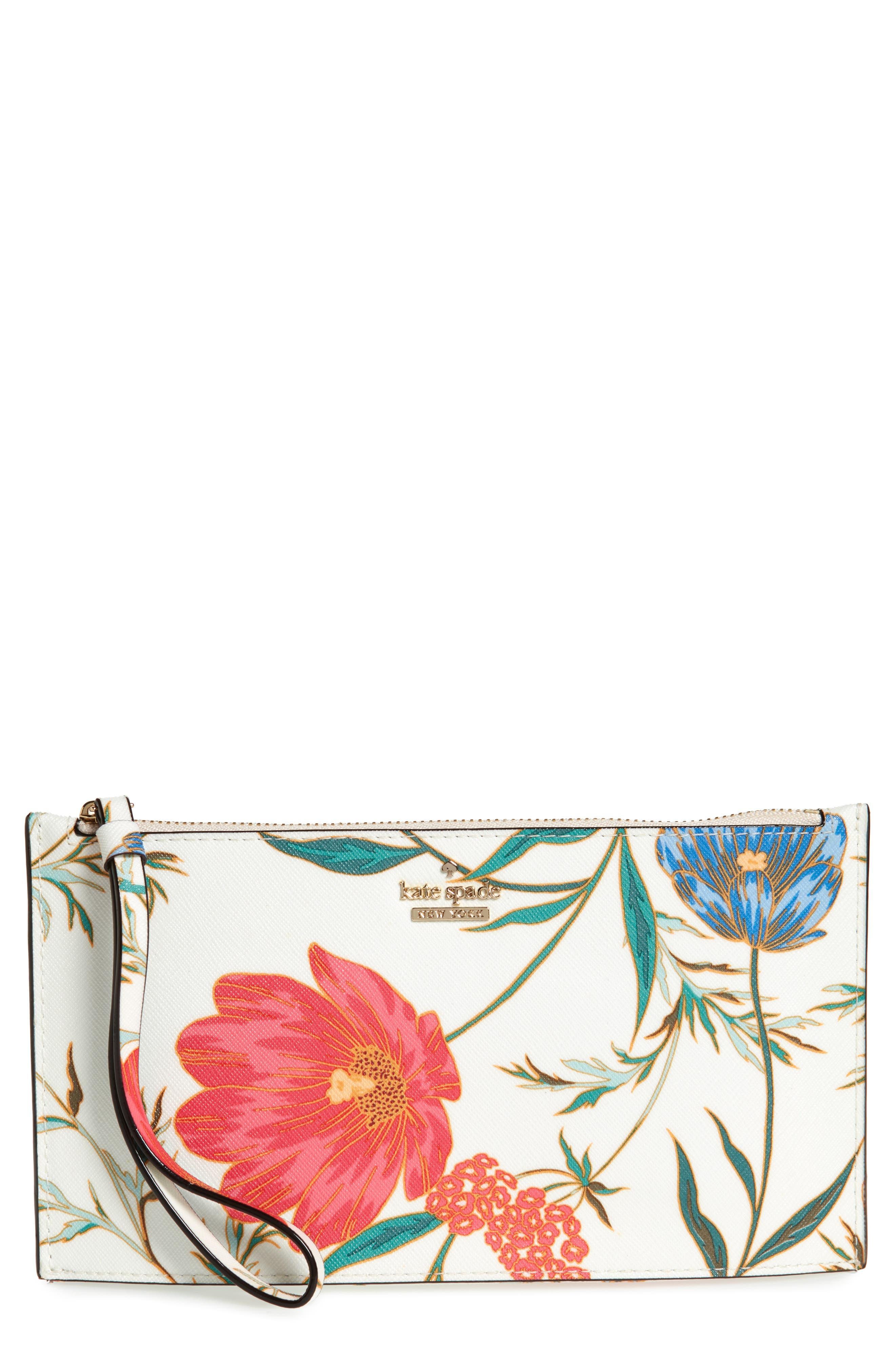 cameron street blossom ariah coated canvas pouch,                             Main thumbnail 1, color,                             Cream