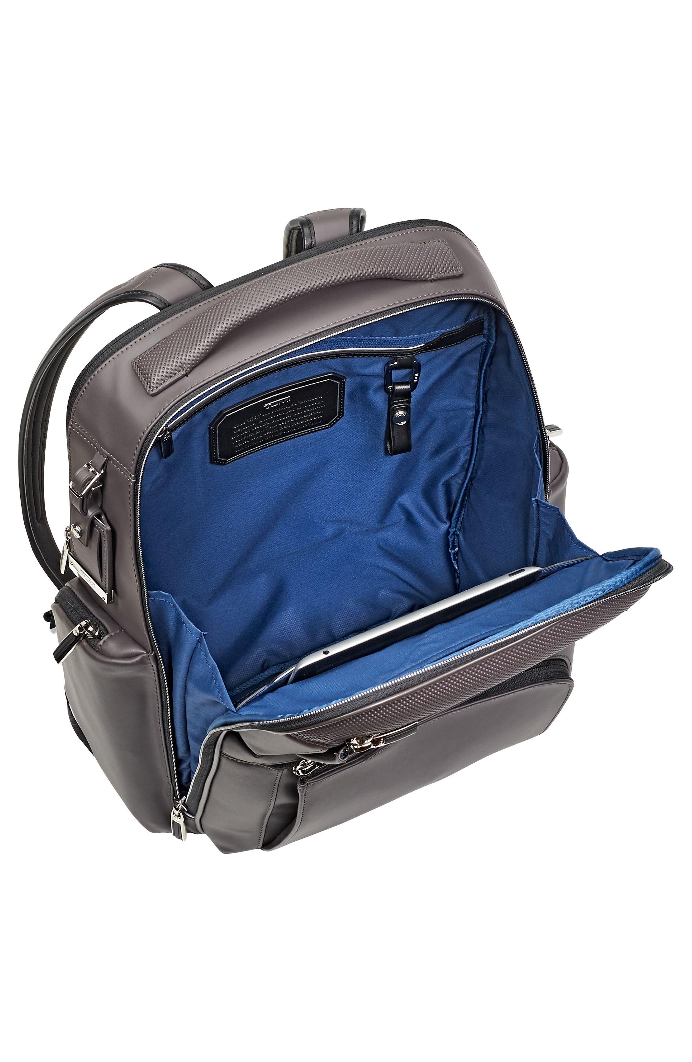Arrivé - Bradley Leather Backpack,                             Alternate thumbnail 4, color,                             Taupe