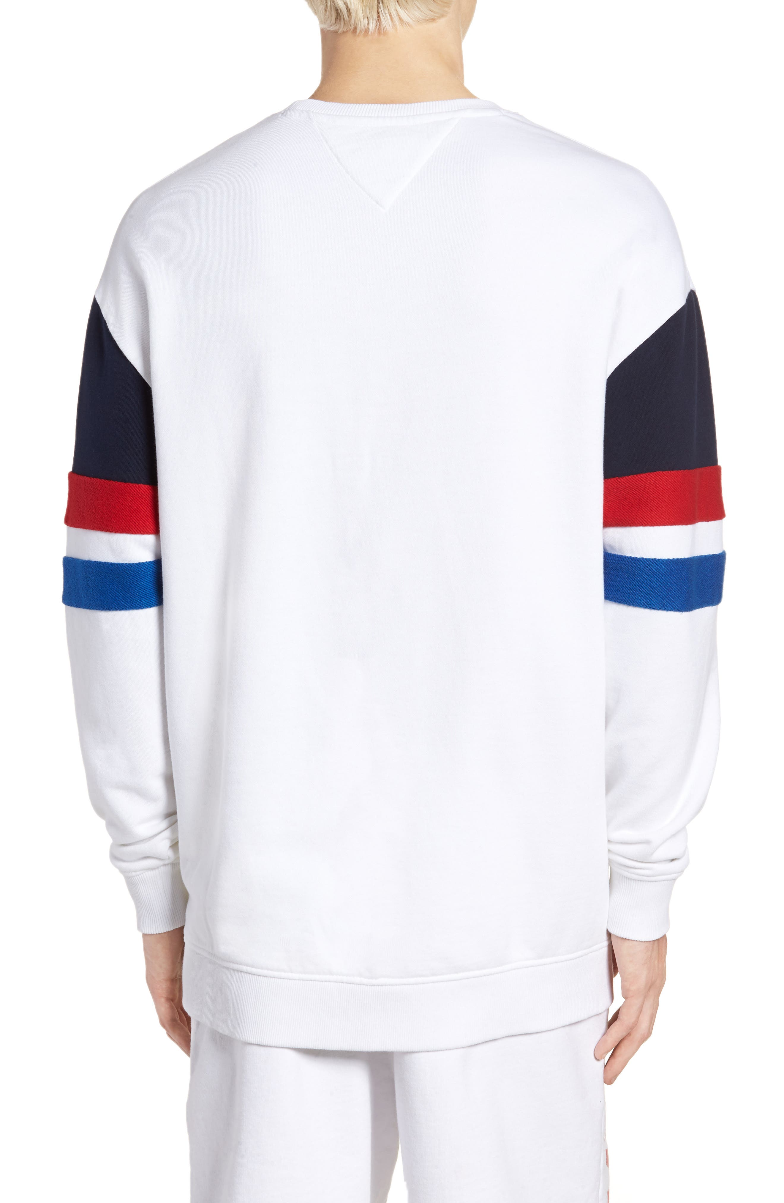 Colorblock Sweatshirt,                             Alternate thumbnail 2, color,                             Classic White / Multi