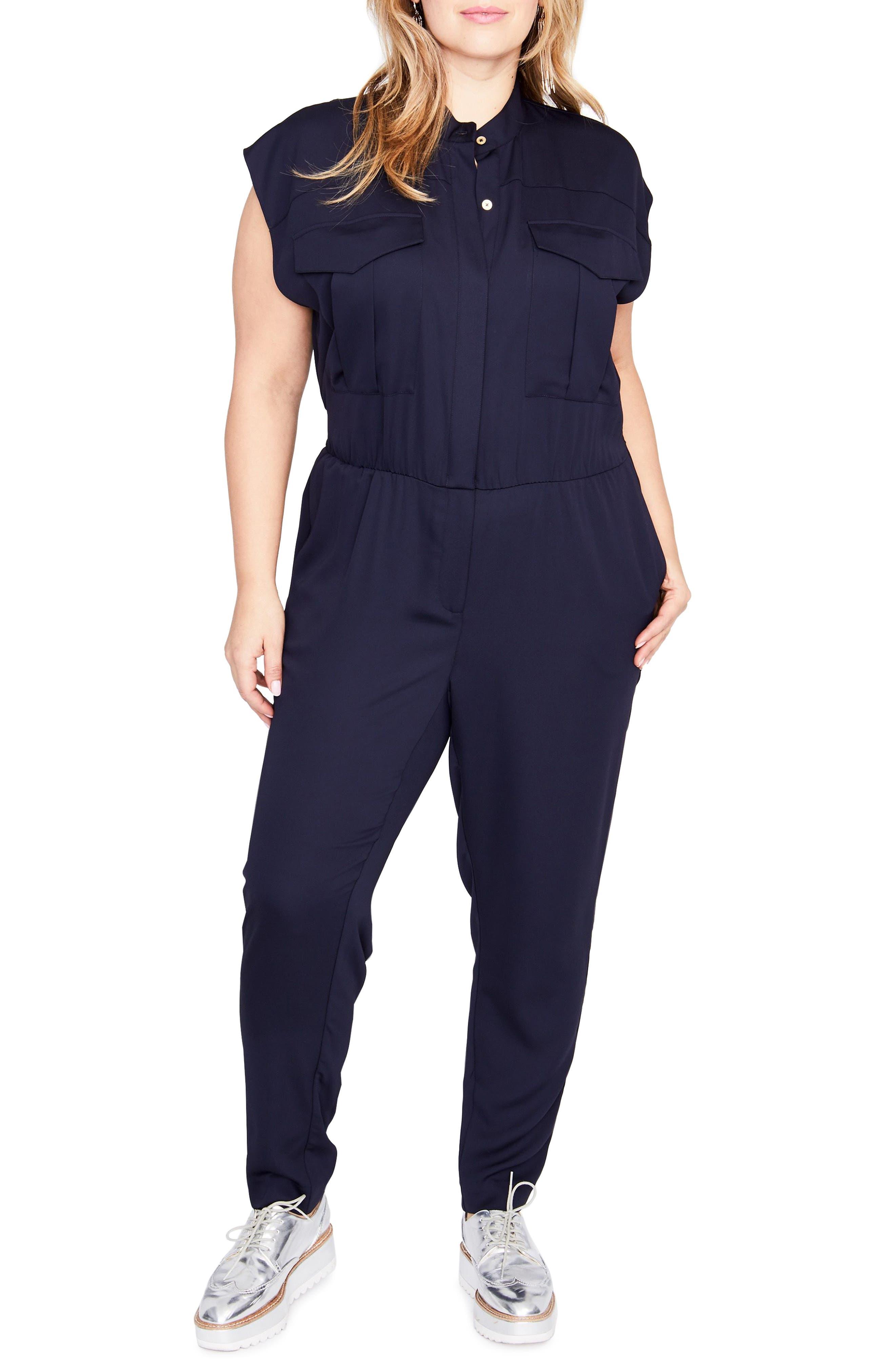 RACHEL Rachel Roy Utility Jumpsuit (Plus Size)