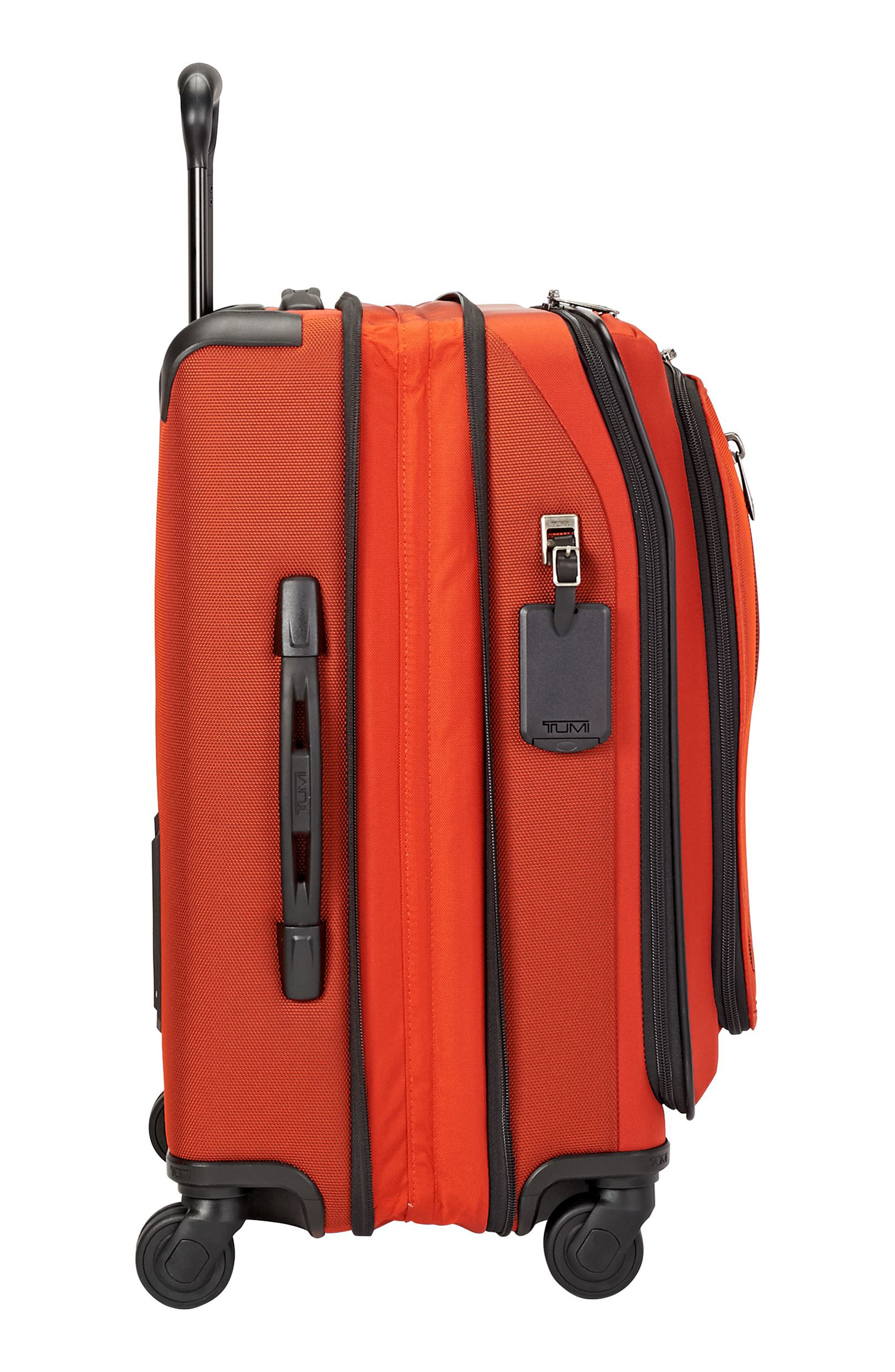 Merge - Continental Expandable Rolling Carry-On,                             Alternate thumbnail 4, color,                             Sunset Red