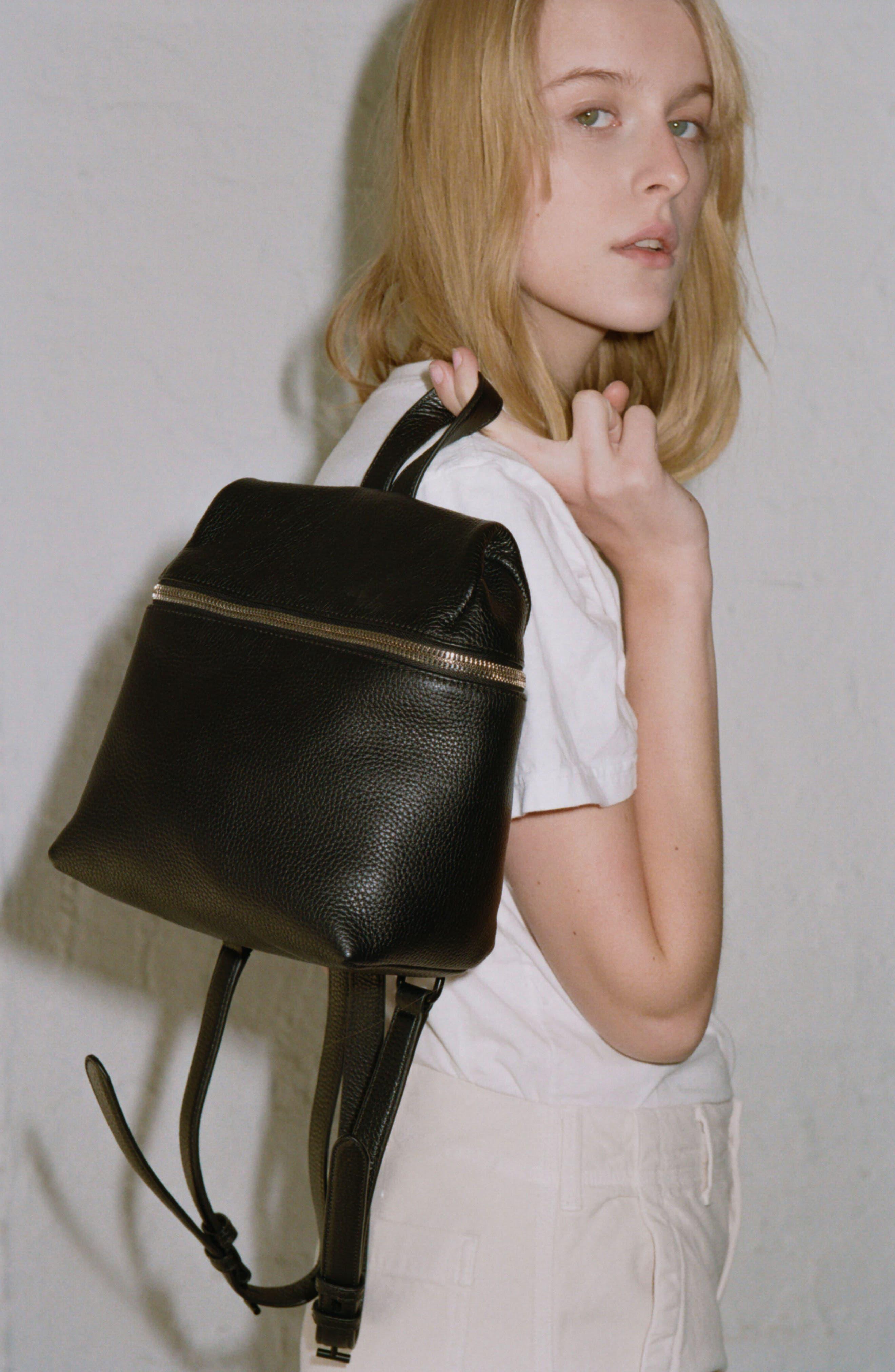 Alternate Image 2  - KARA Small Pebbled Leather Backpack