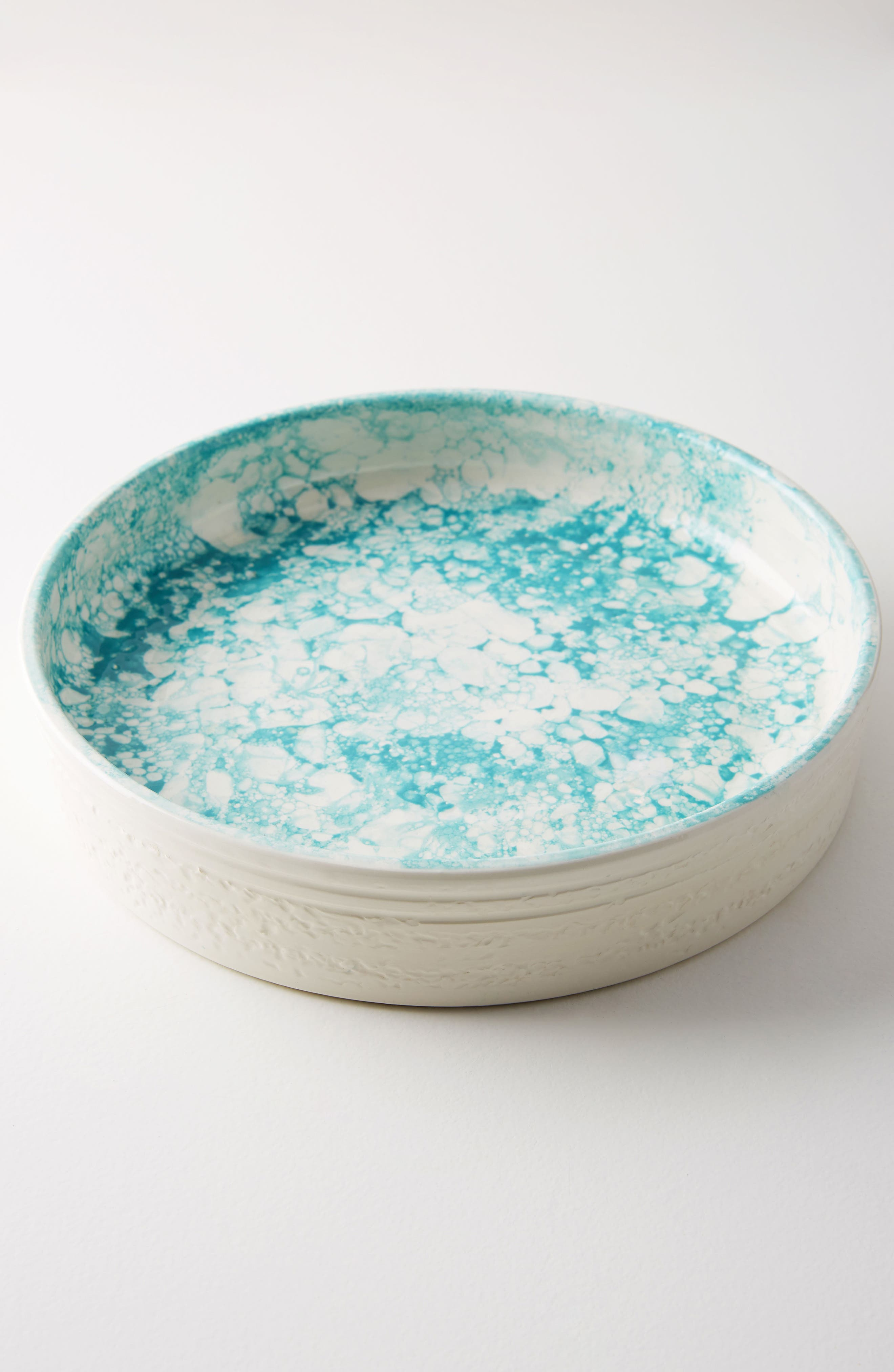 Glenna Pie Dish,                             Main thumbnail 1, color,                             Turquoise
