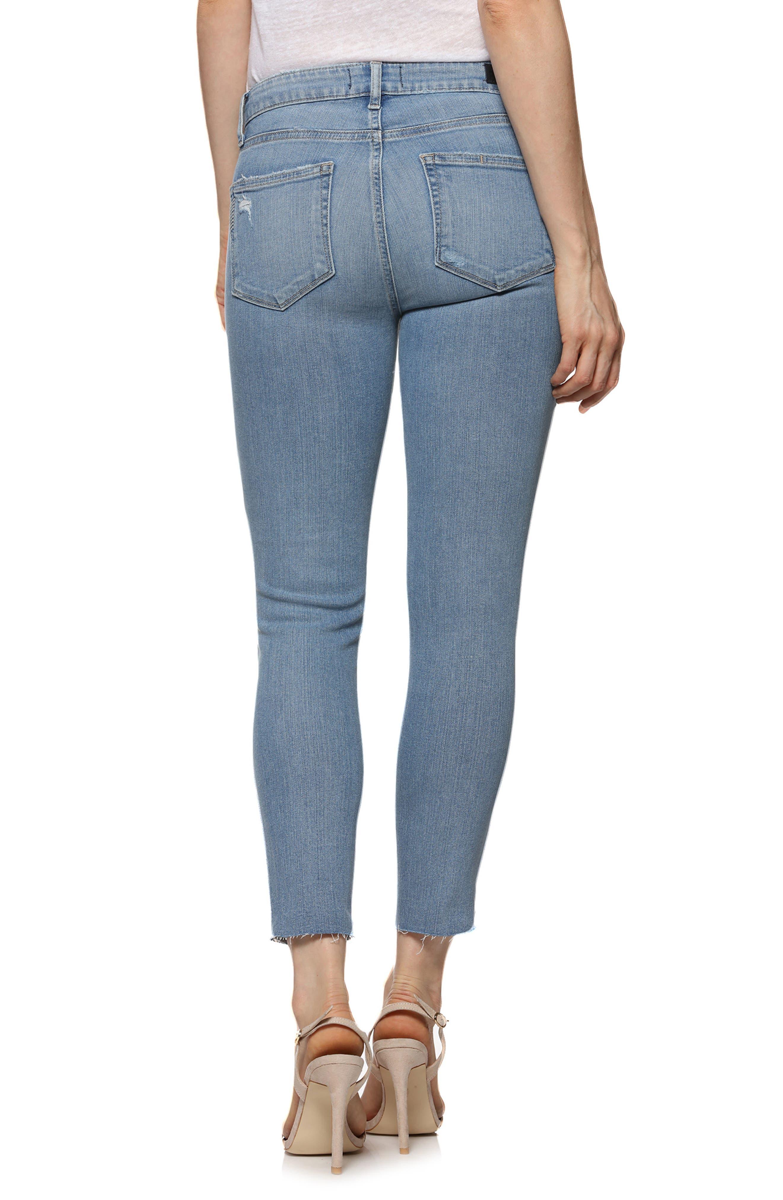 Transcend - Verdugo Raw Hem Crop Skinny Jeans,                             Alternate thumbnail 2, color,                             Venice