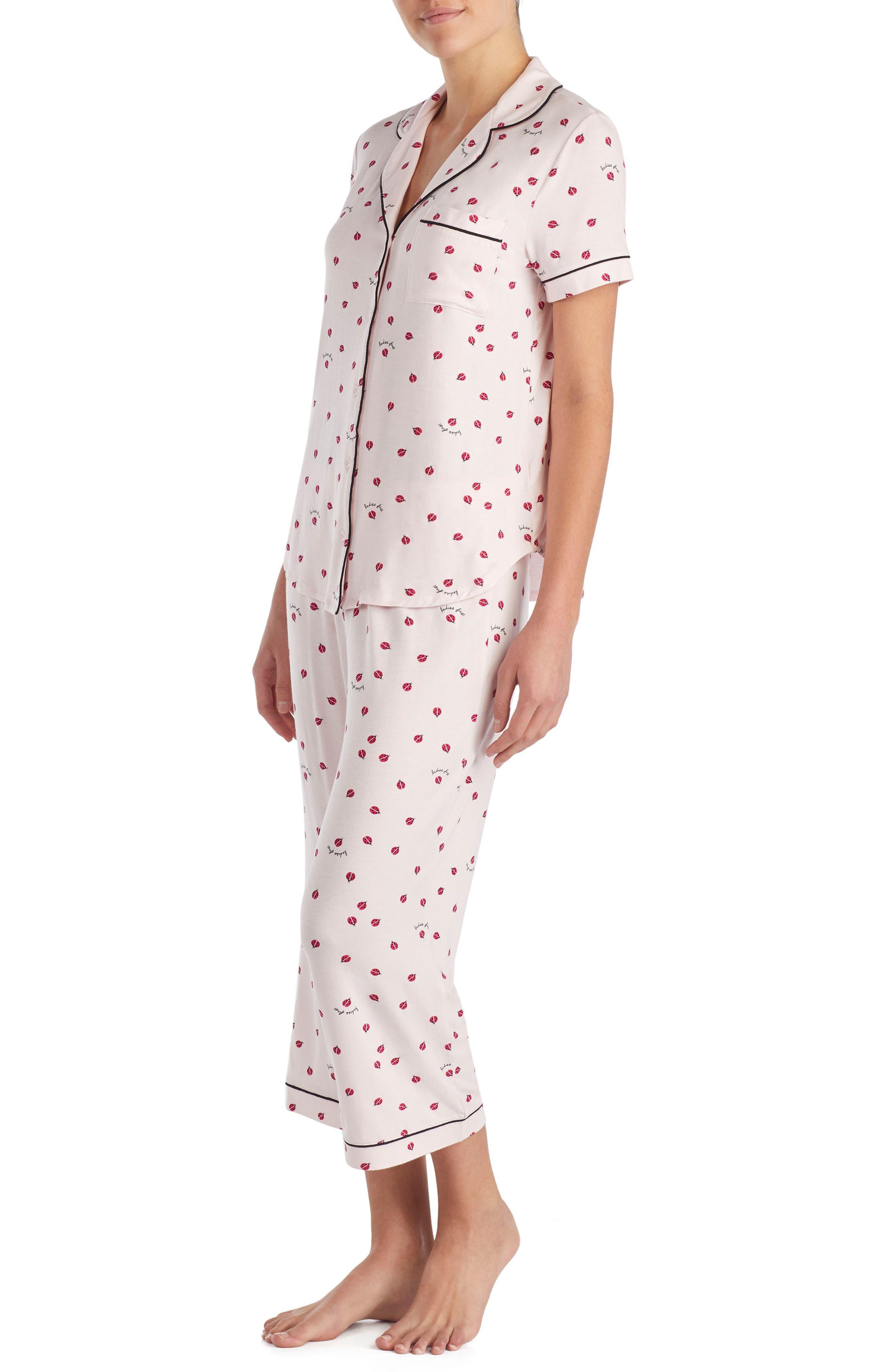 capri pajamas,                             Alternate thumbnail 3, color,                             Ladybug