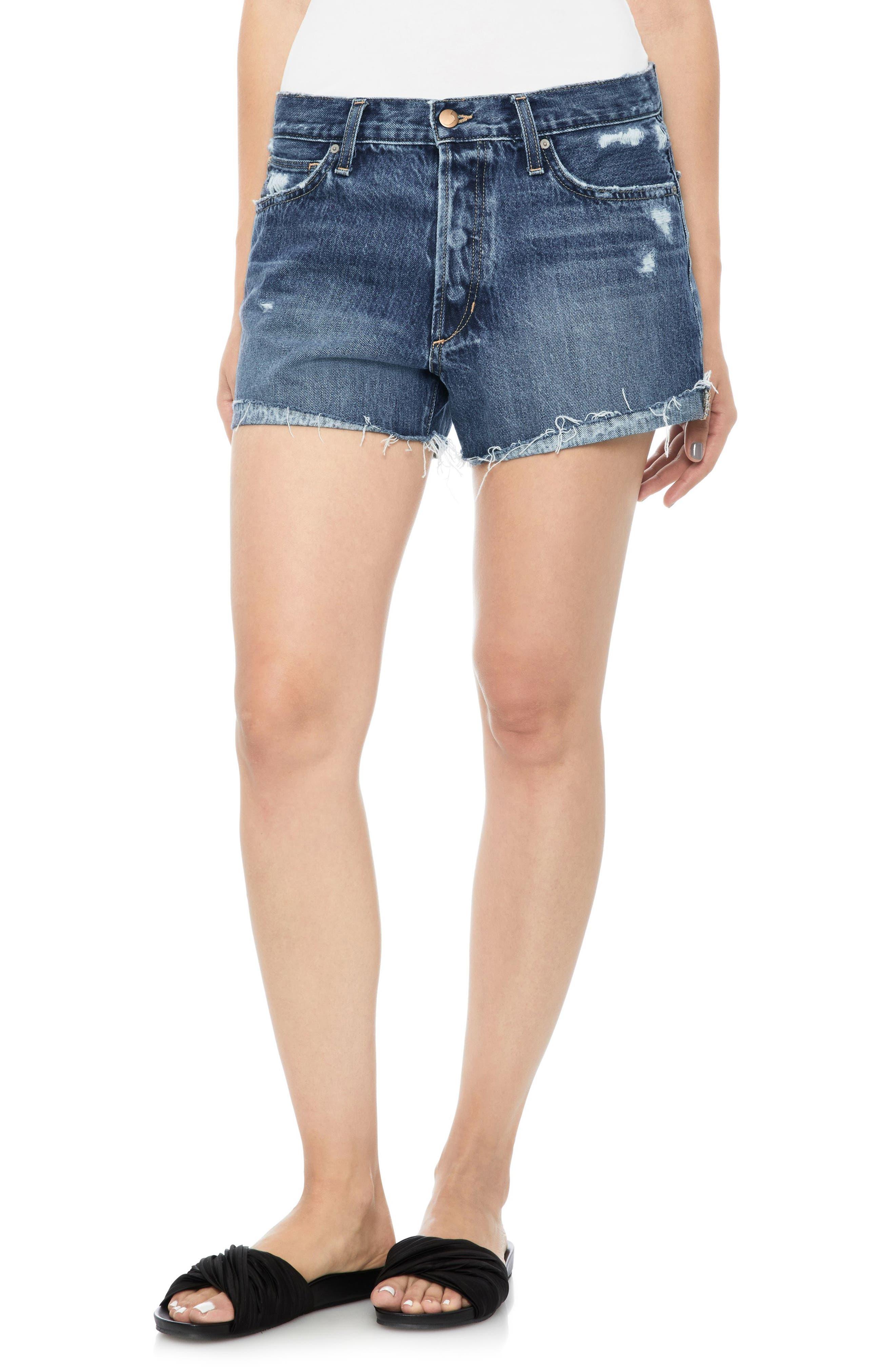Lover Baggy Cutoff Denim Shorts,                         Main,                         color, Tamryn
