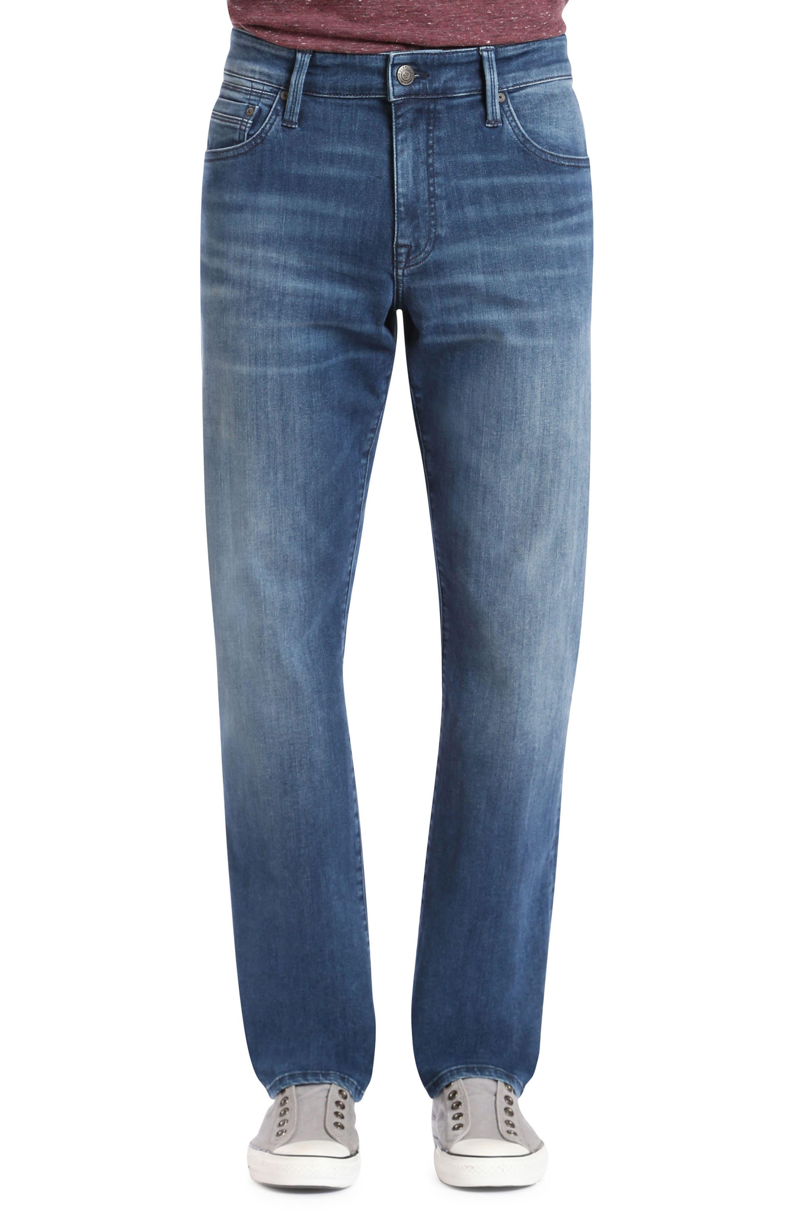 Myles Straight Leg Jeans,                         Main,                         color, Mid Tonal Williamsburg