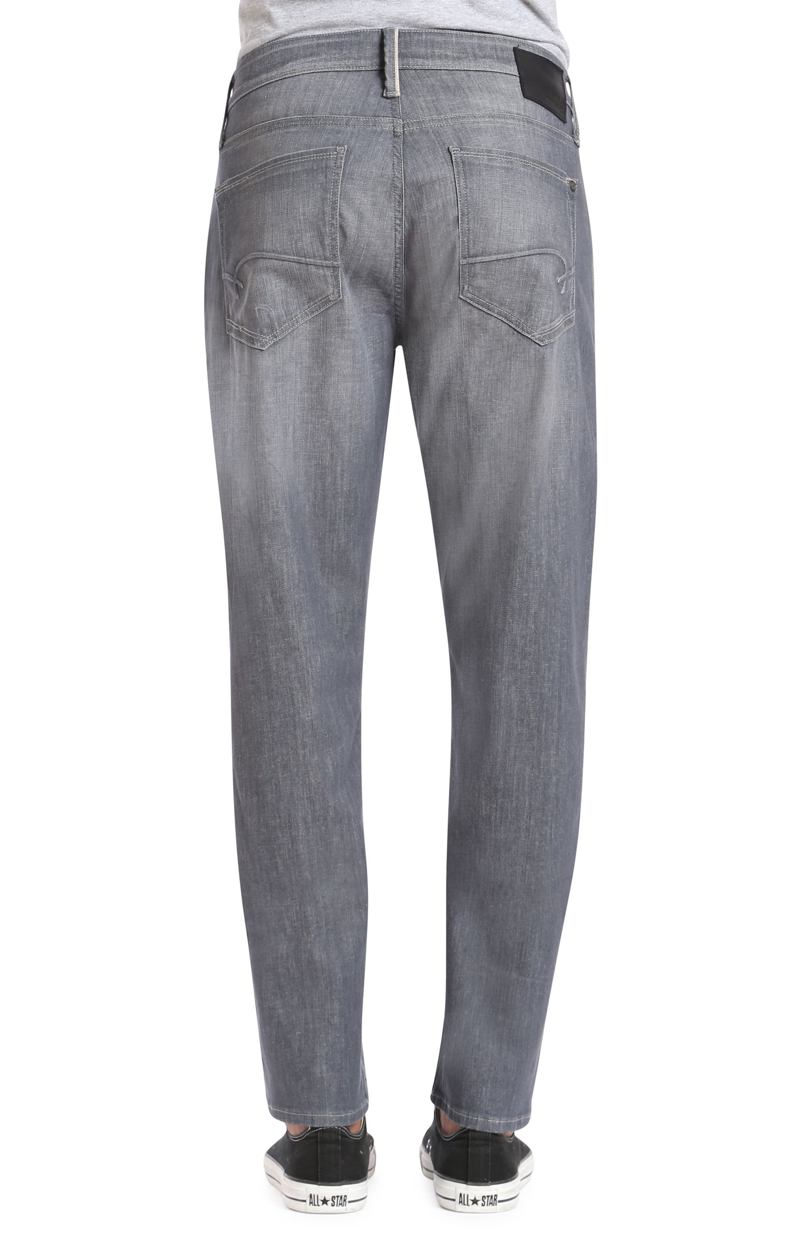 Alternate Image 2  - Mavi Jeans Marcus Slim Straight Leg Jeans (Light Grey White Edge)