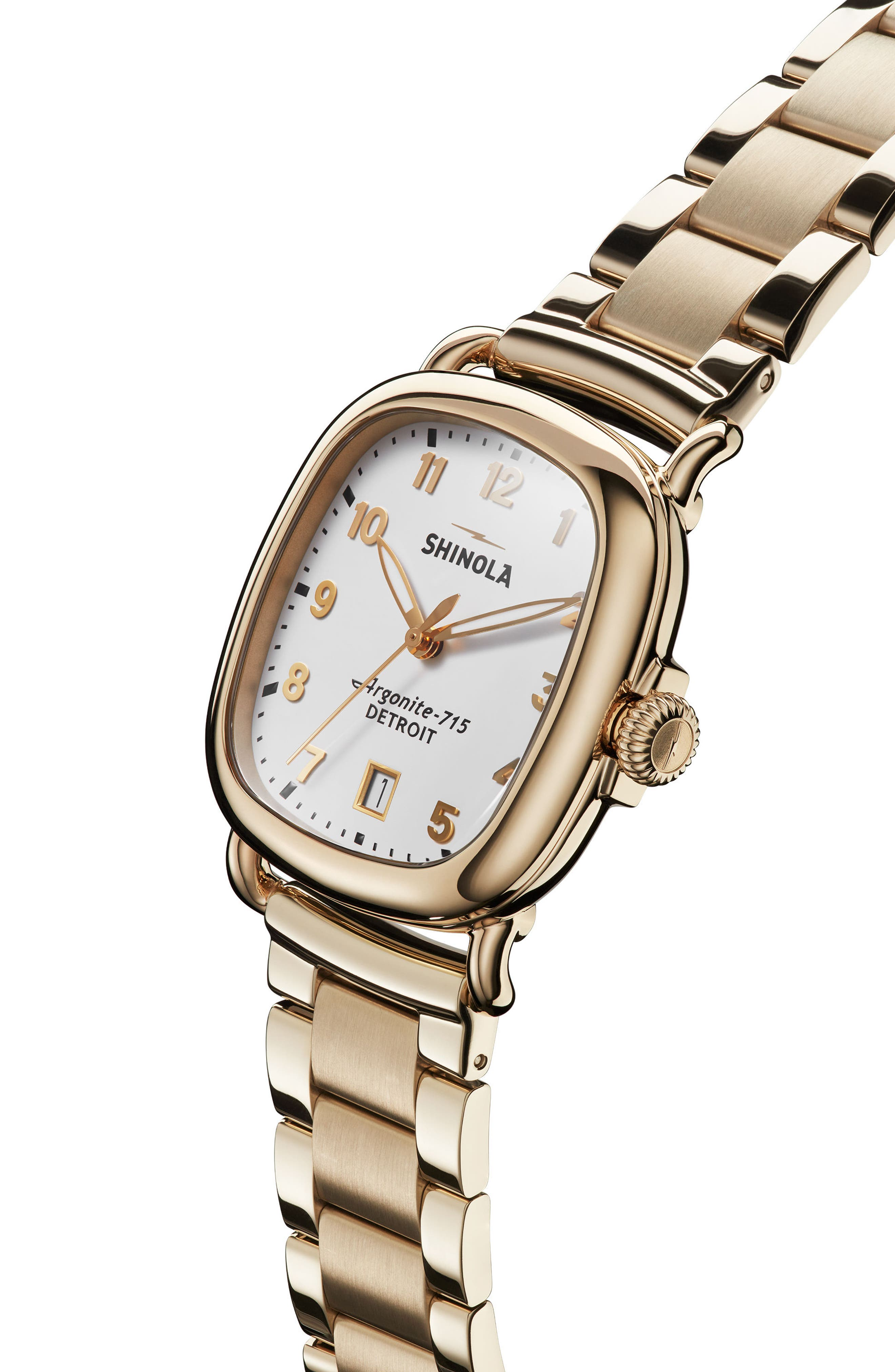 The Guardian Bracelet Watch, 36mm,                             Alternate thumbnail 5, color,                             Gold/ White/ Gold
