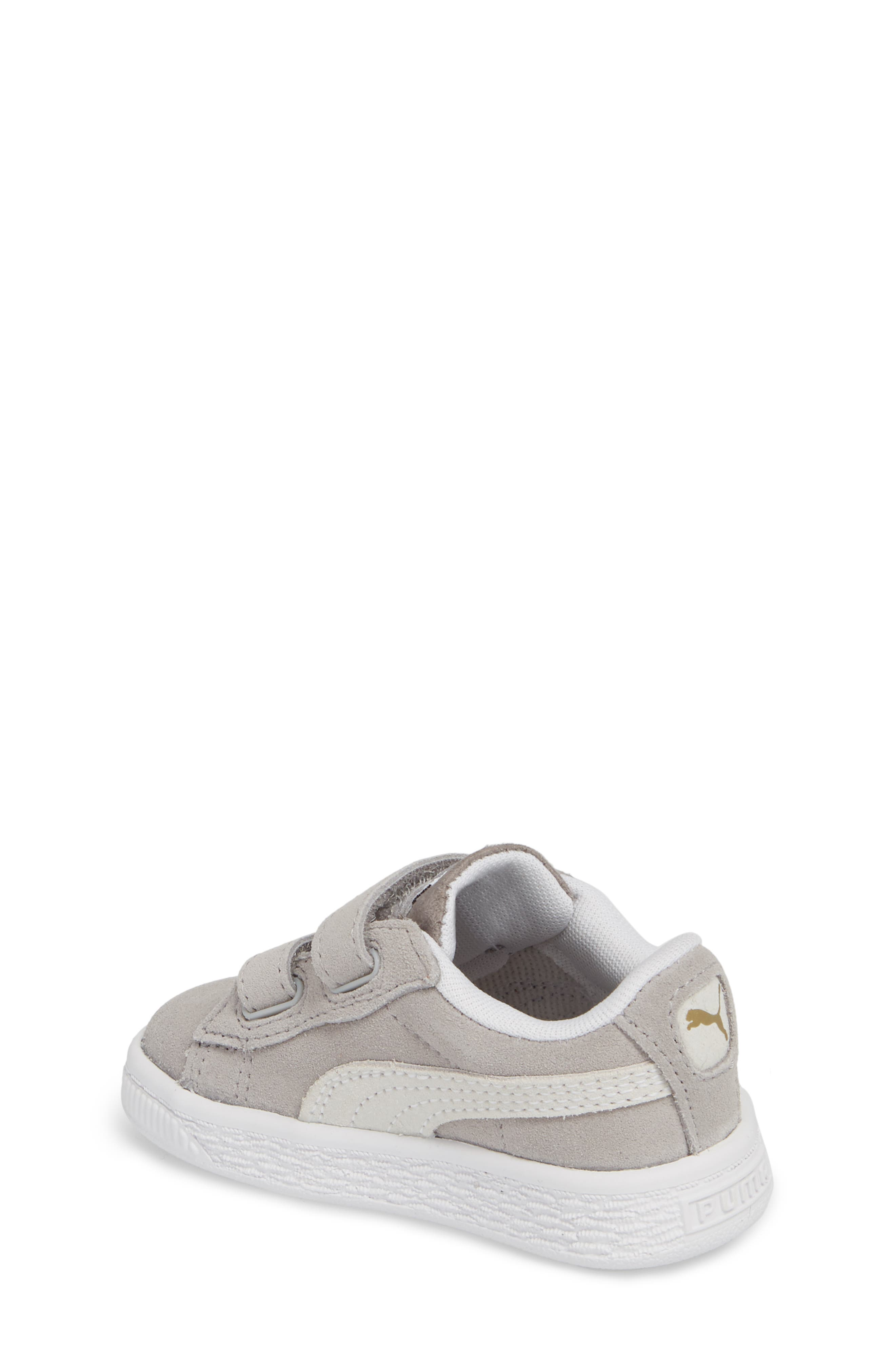 Suede Classic Sneaker,                             Alternate thumbnail 2, color,                             Ash/ Puma White