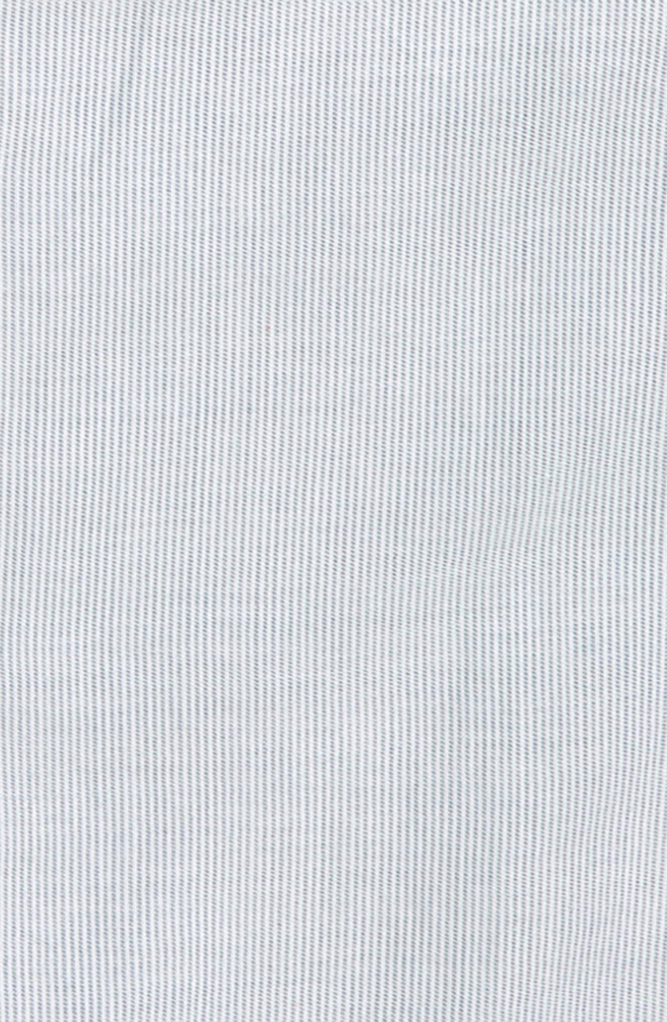 Ruffle Cold Shoulder Top,                             Alternate thumbnail 2, color,                             White- Blue Stripe