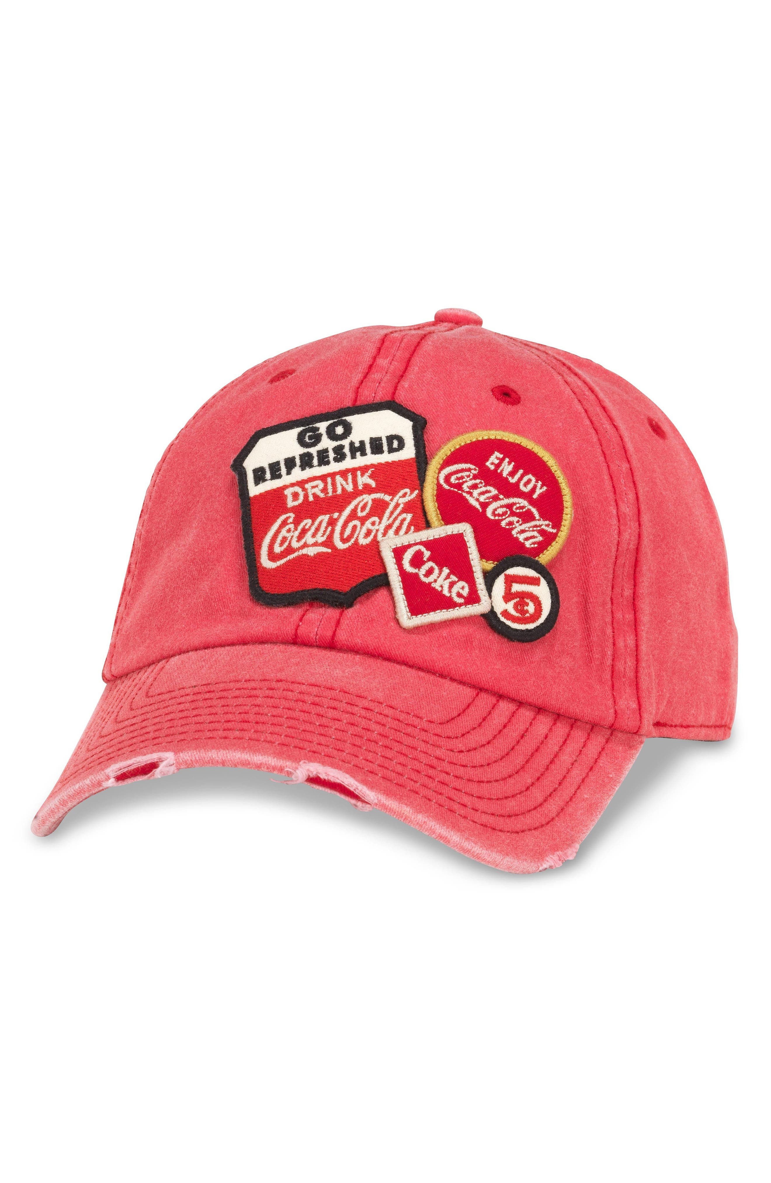 Iconic - Coke<sup>®</sup> Ball Cap,                             Main thumbnail 1, color,                             Red