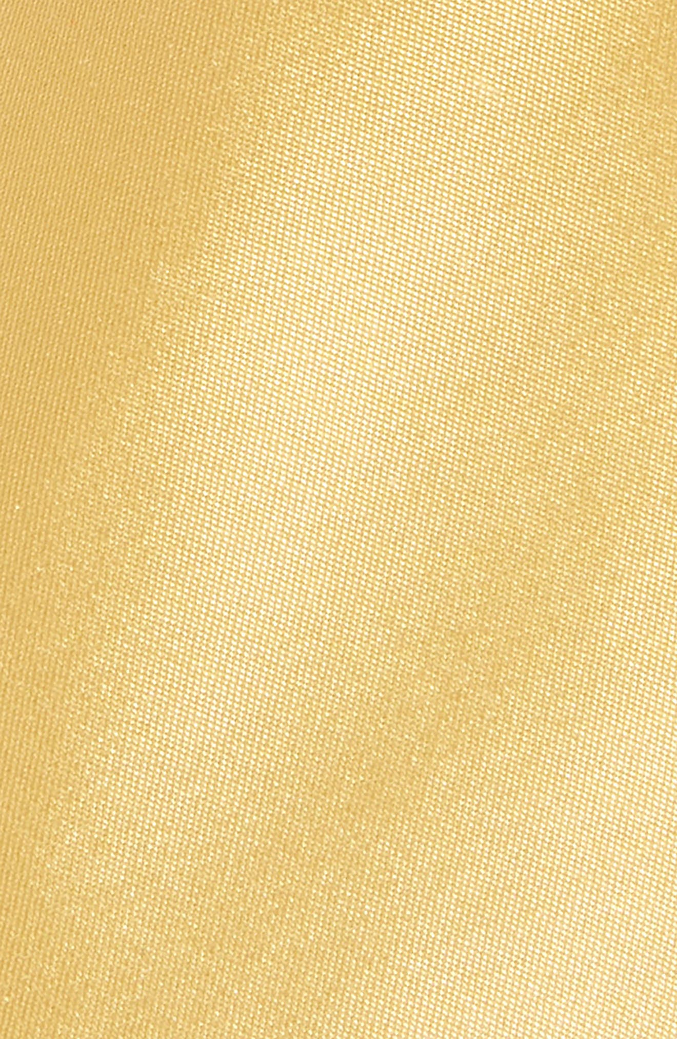 Solid Matte Satin Tie,                             Alternate thumbnail 2, color,                             Yellow