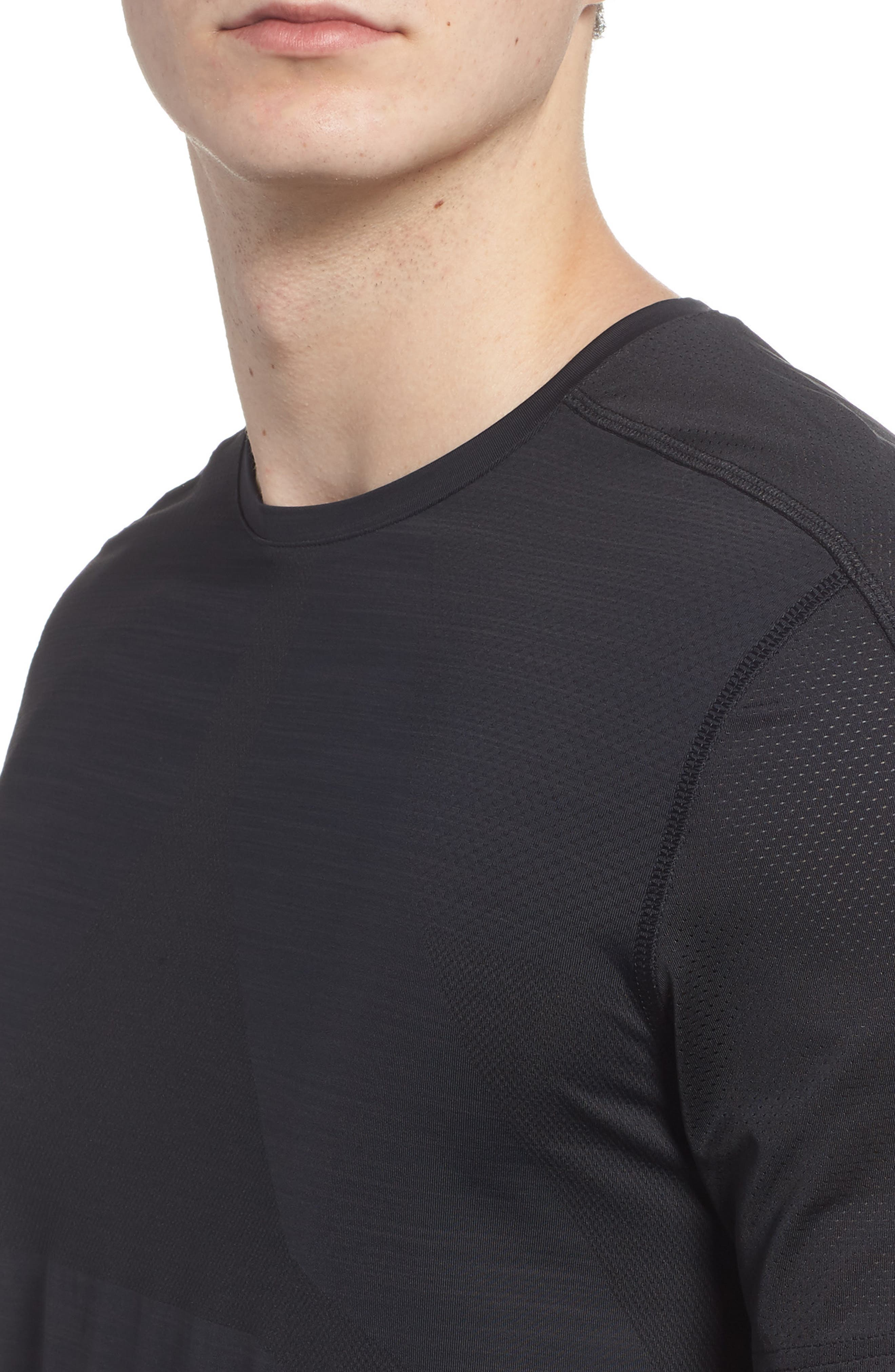 ACTIVCHILL Vent Move Crewneck T-Shirt,                             Alternate thumbnail 4, color,                             Black