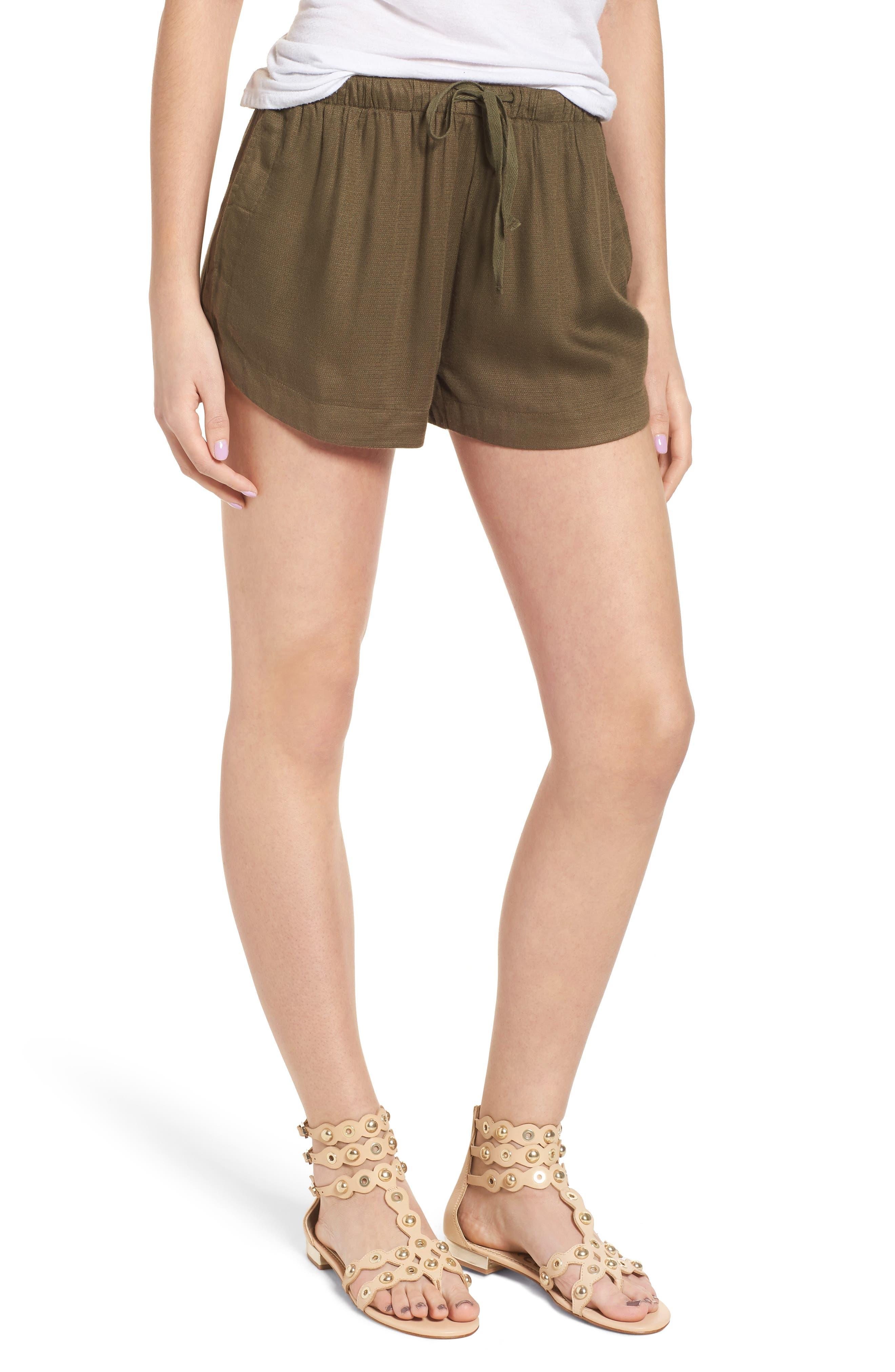 Vary Yume Shorts,                         Main,                         color, Burnt Olive