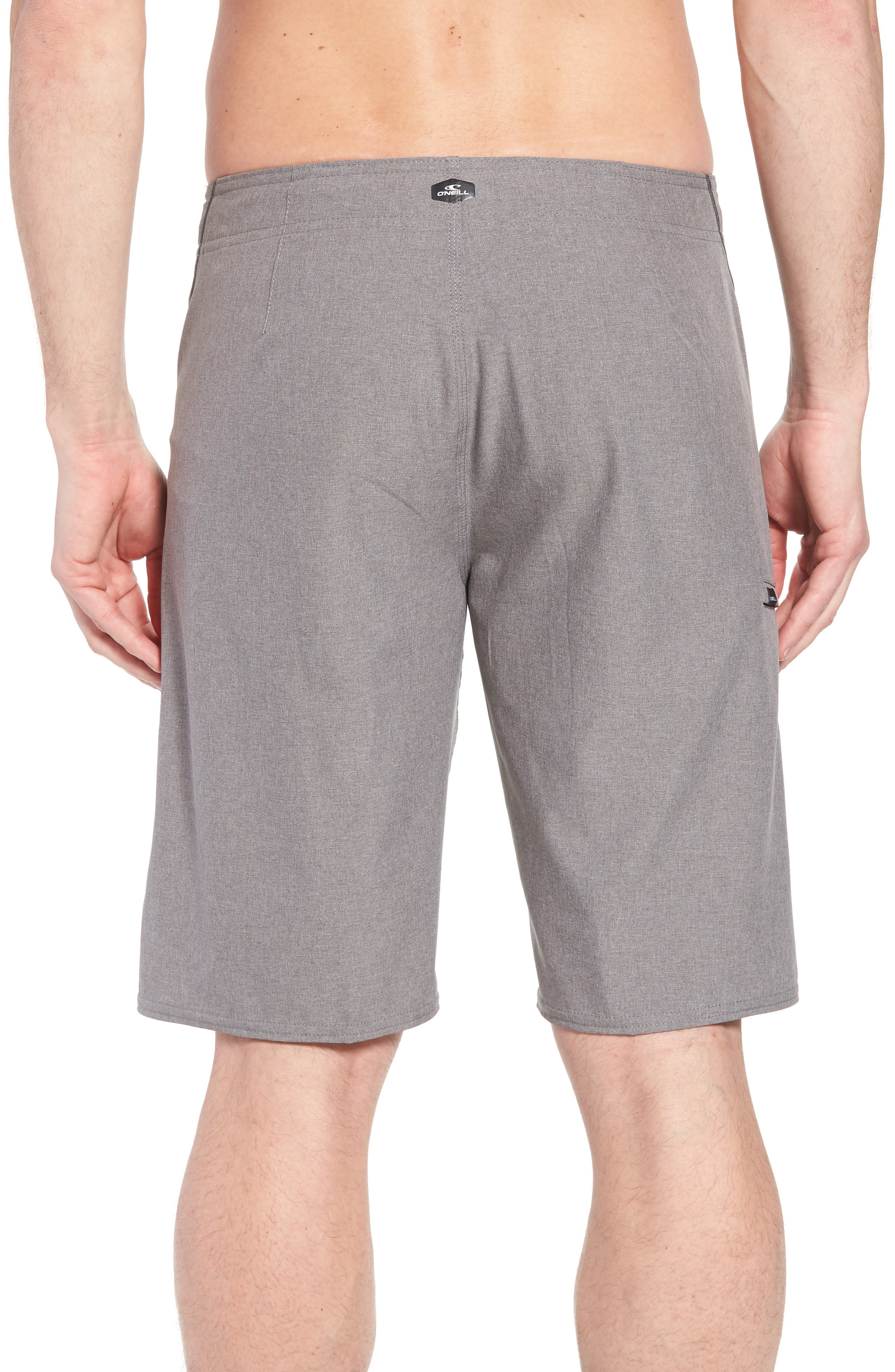 Hyperfreak S-Seam Board Shorts,                             Alternate thumbnail 2, color,                             Heather Grey