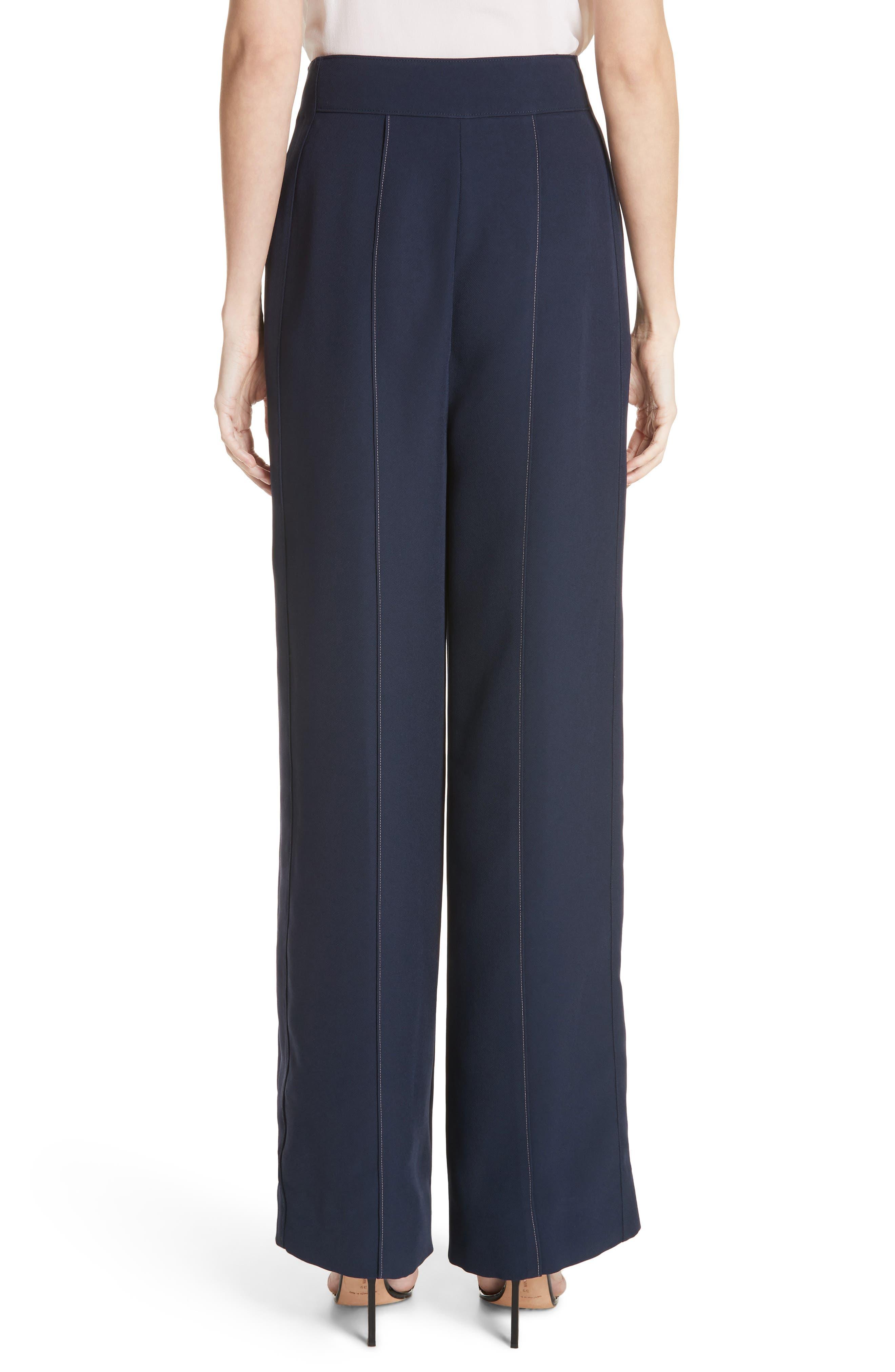 Lapari Pintuck Trousers,                             Alternate thumbnail 2, color,                             Navy