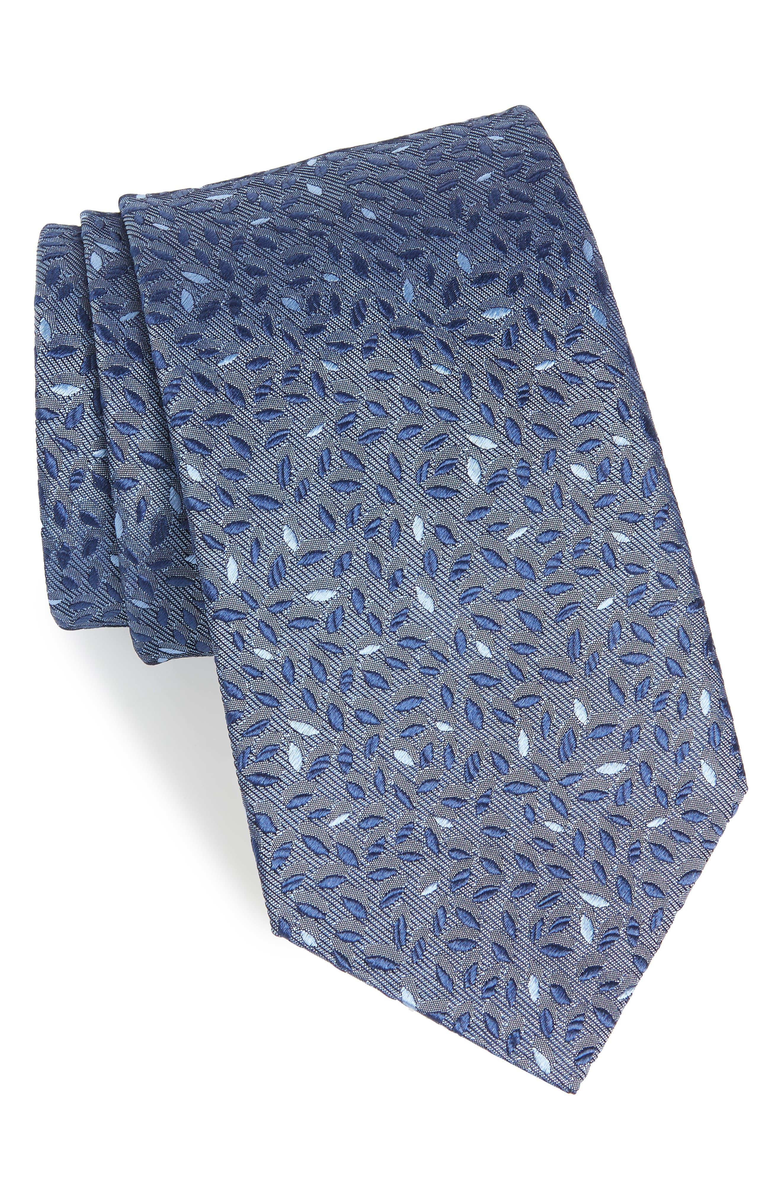 John Varvatos Star USA Leaves Silk Tie