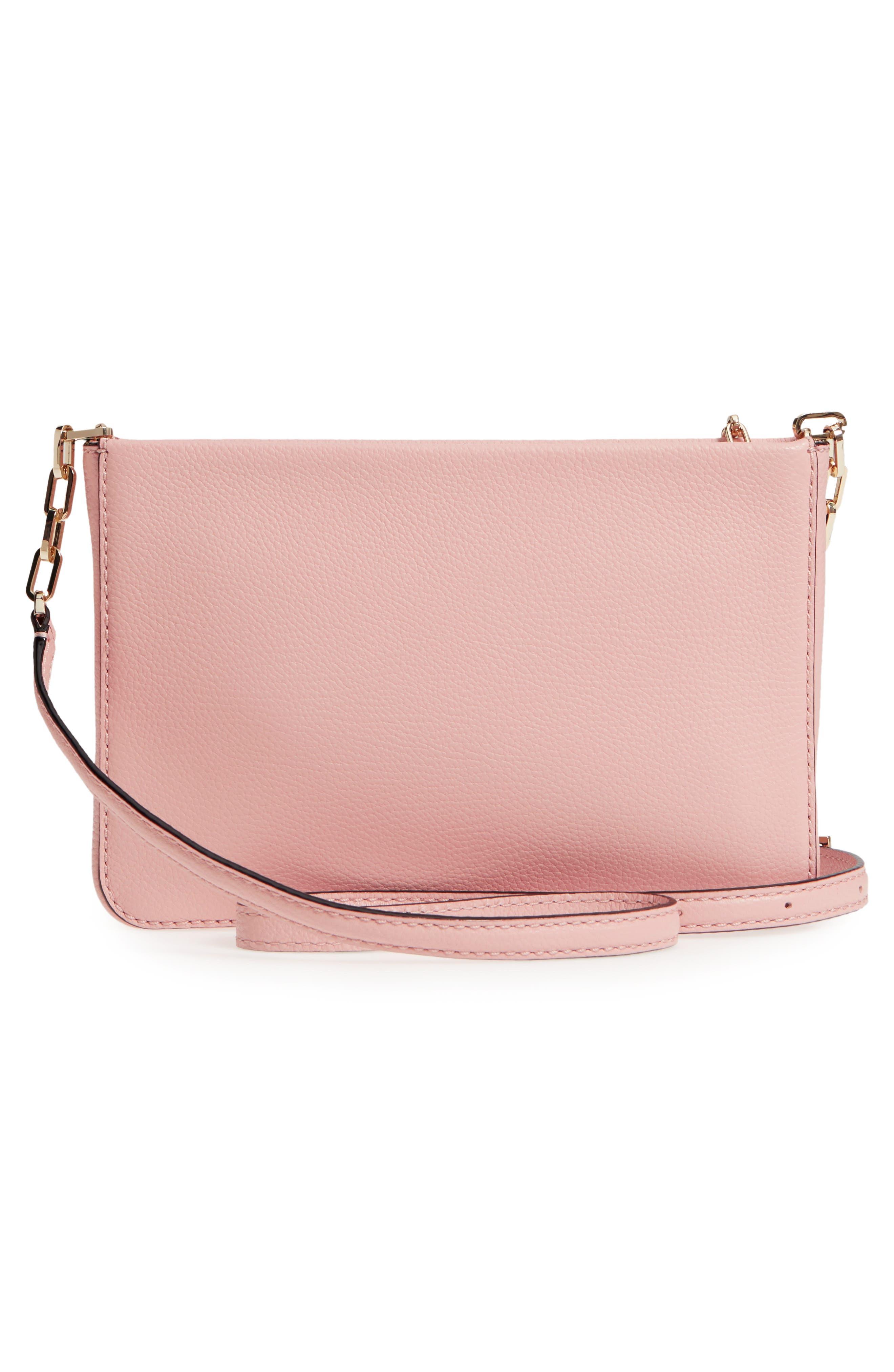 kingston drive - alessa leather shoulder/crossbody bag,                             Alternate thumbnail 3, color,                             Warm Vellum