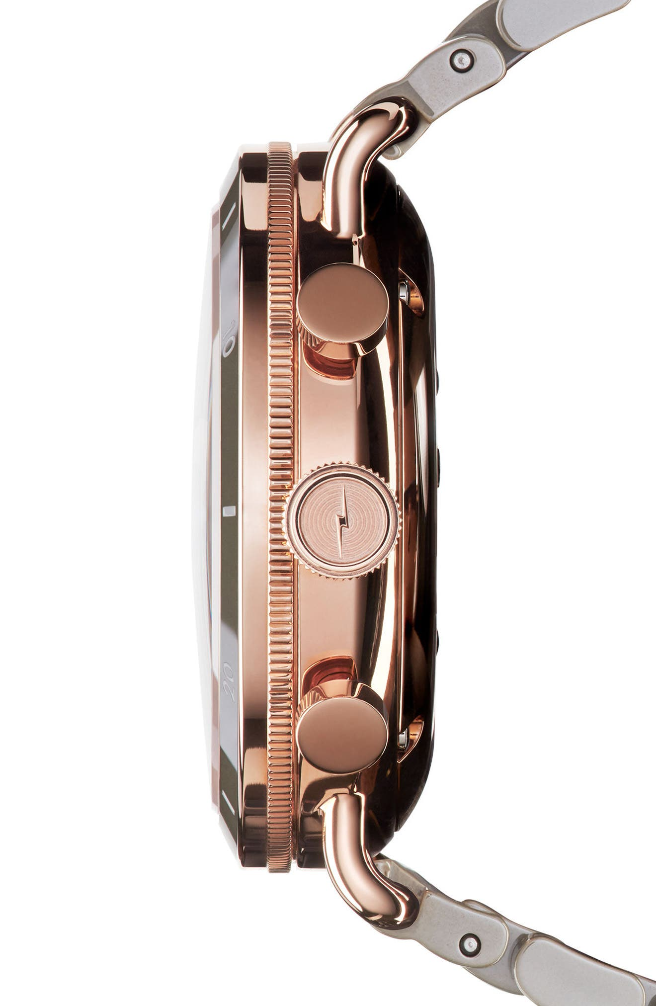 The Canfield Chrono Bracelet Watch, 40mm,                             Alternate thumbnail 3, color,                             Grey/ White/ Rose Gold