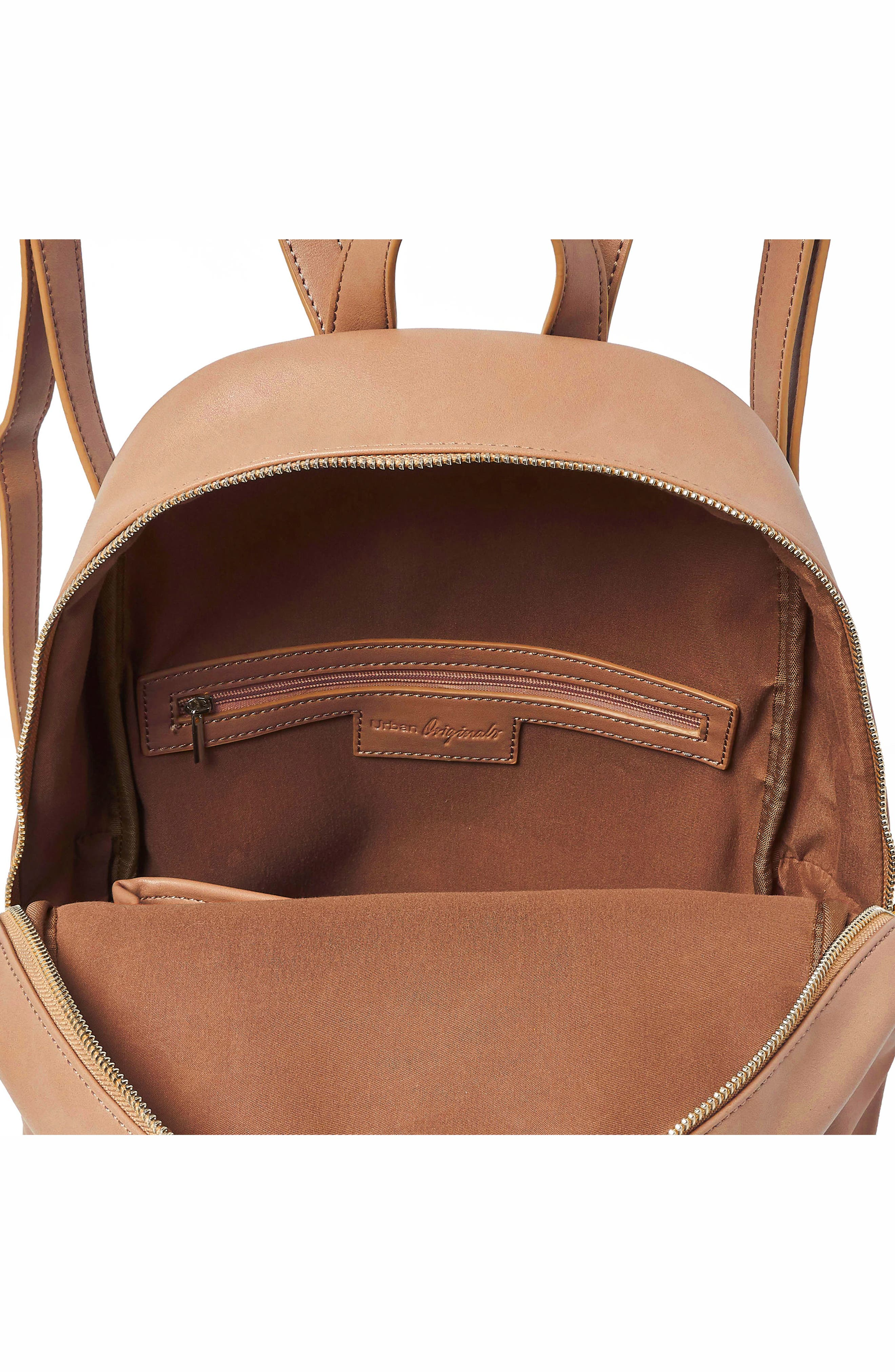 Sublime Vegan Leather Backpack,                             Alternate thumbnail 3, color,                             Nude