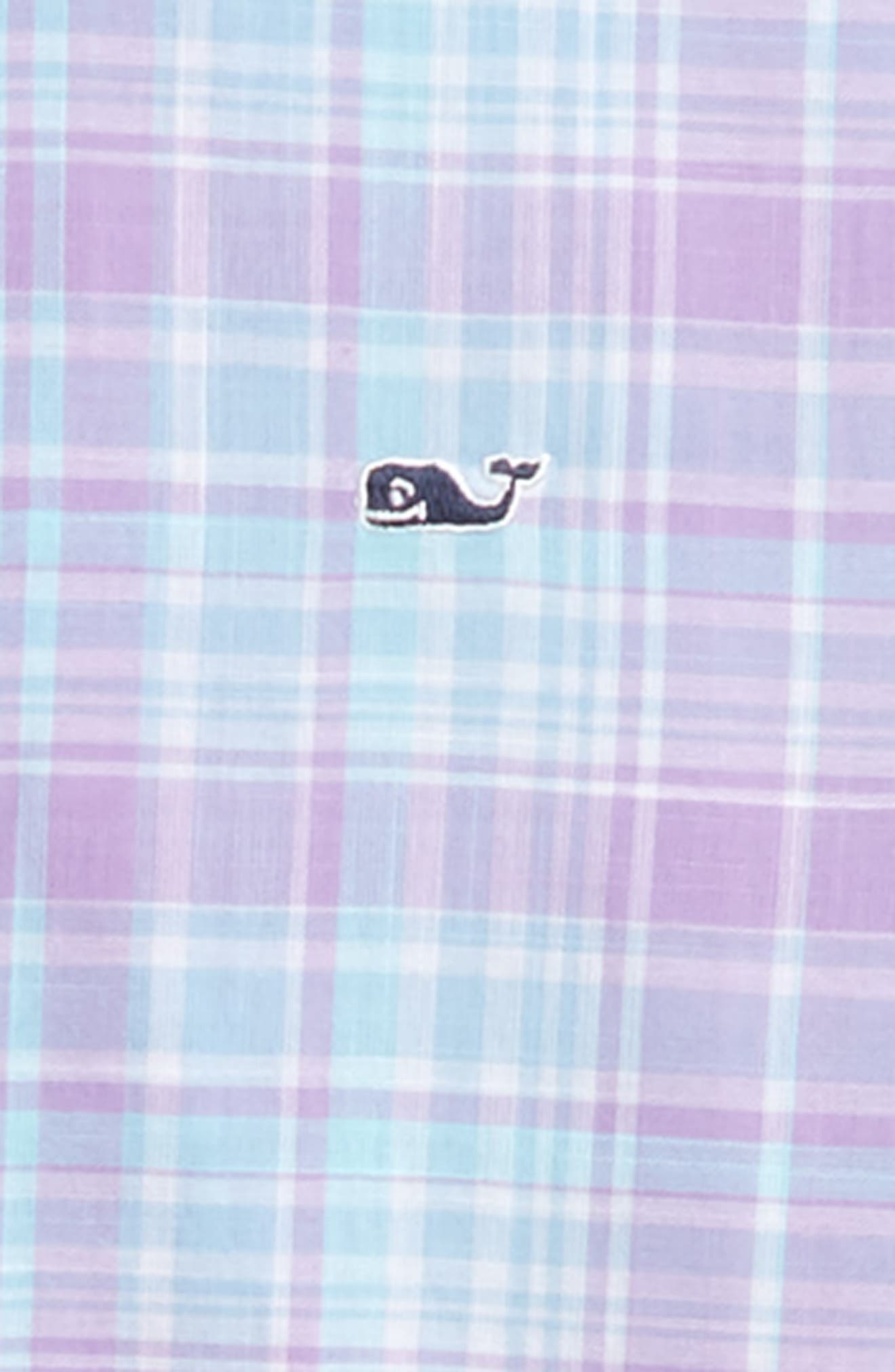 New Prov Beach Plaid Woven Shirt,                             Alternate thumbnail 2, color,                             Sea Urchin