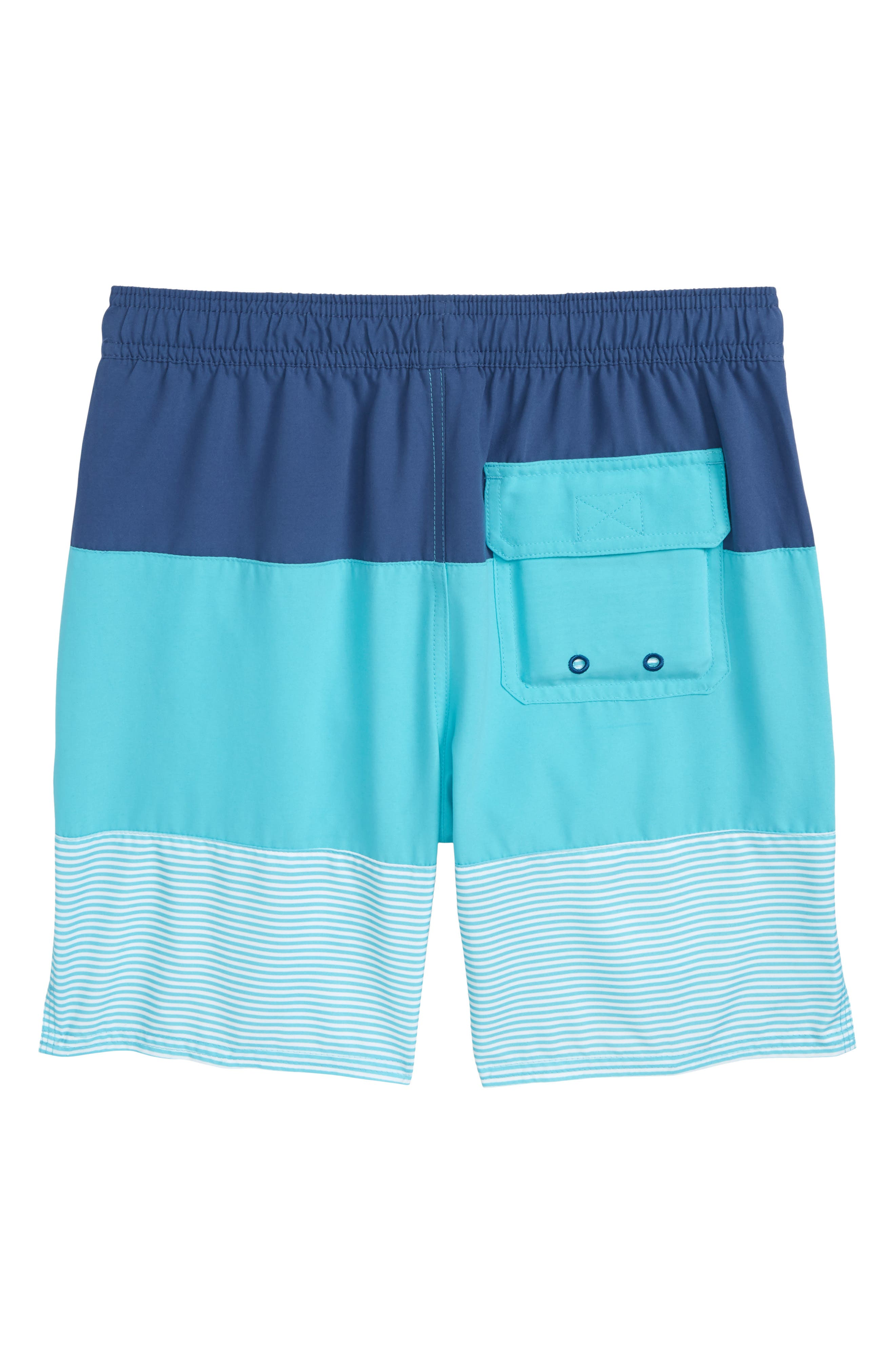 Chappy Pieced Swim Trunks,                             Alternate thumbnail 2, color,                             Turqs