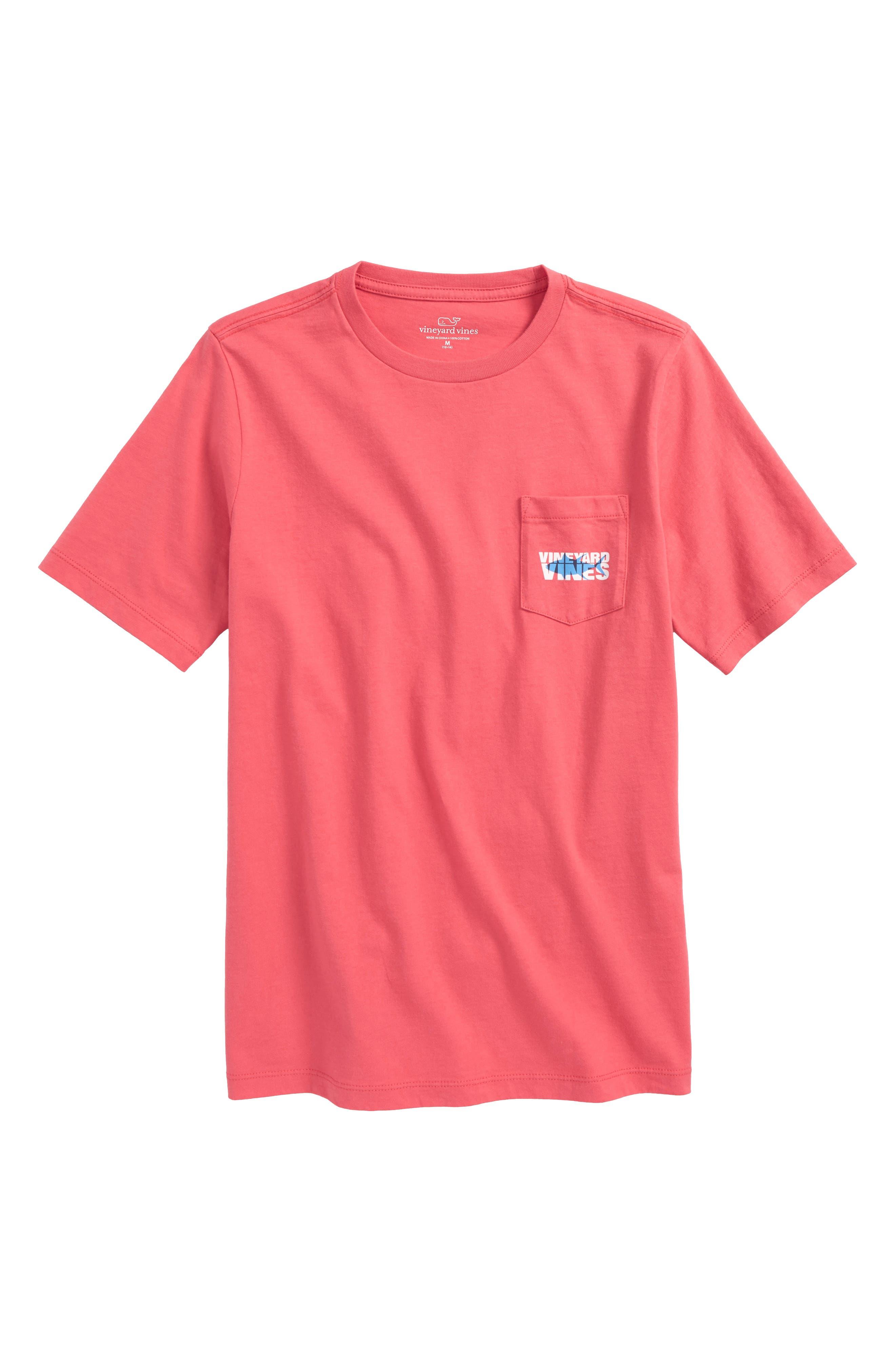 Tuna Shadows Pocket T-Shirt,                         Main,                         color, Jetty Red