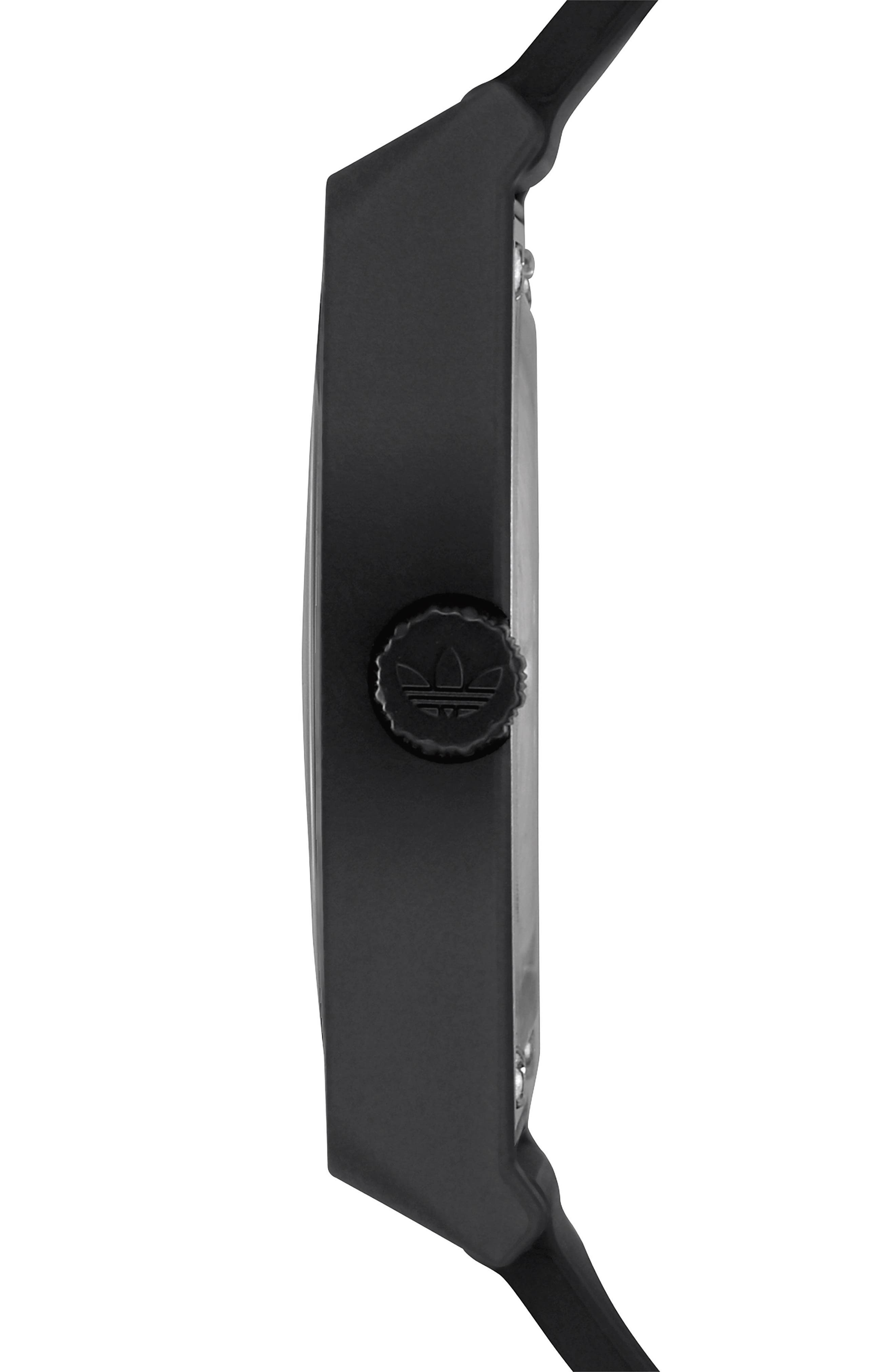Process Silicone Strap Watch, 38mm,                             Alternate thumbnail 3, color,                             Black