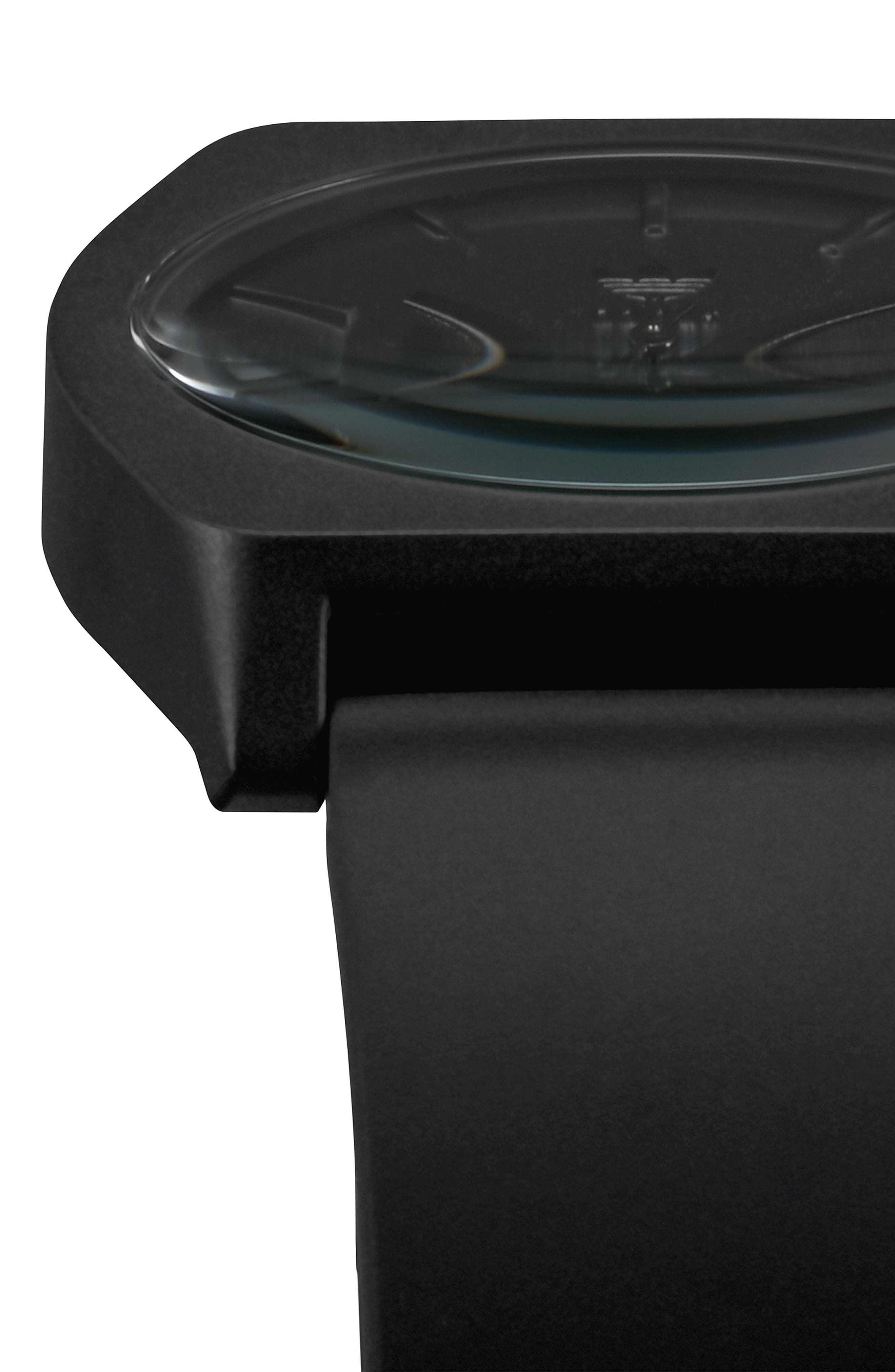 Process Silicone Strap Watch, 38mm,                             Alternate thumbnail 4, color,                             Black