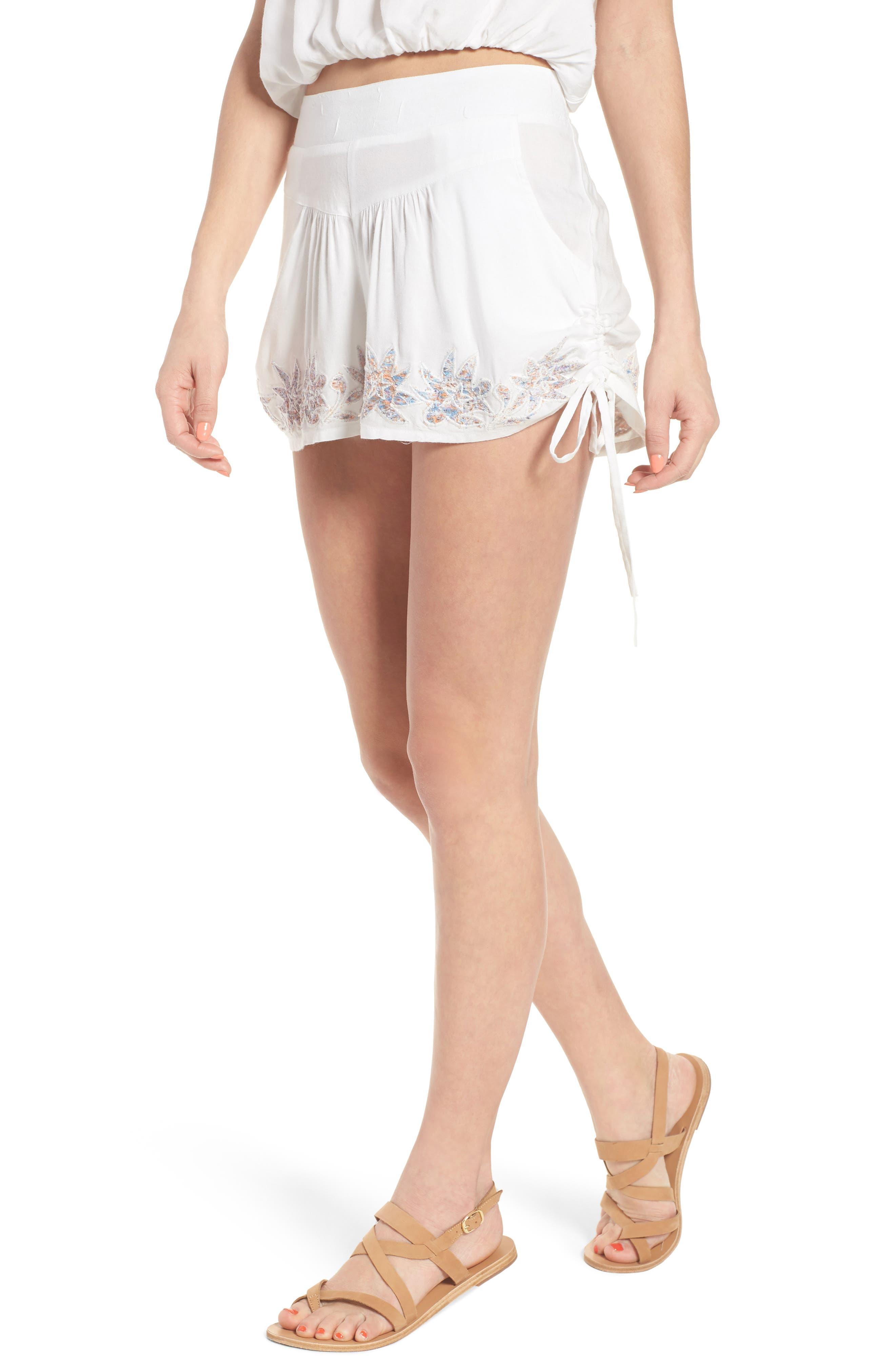 Alternate Image 1 Selected - Raga Lotus Love Side Tie Shorts