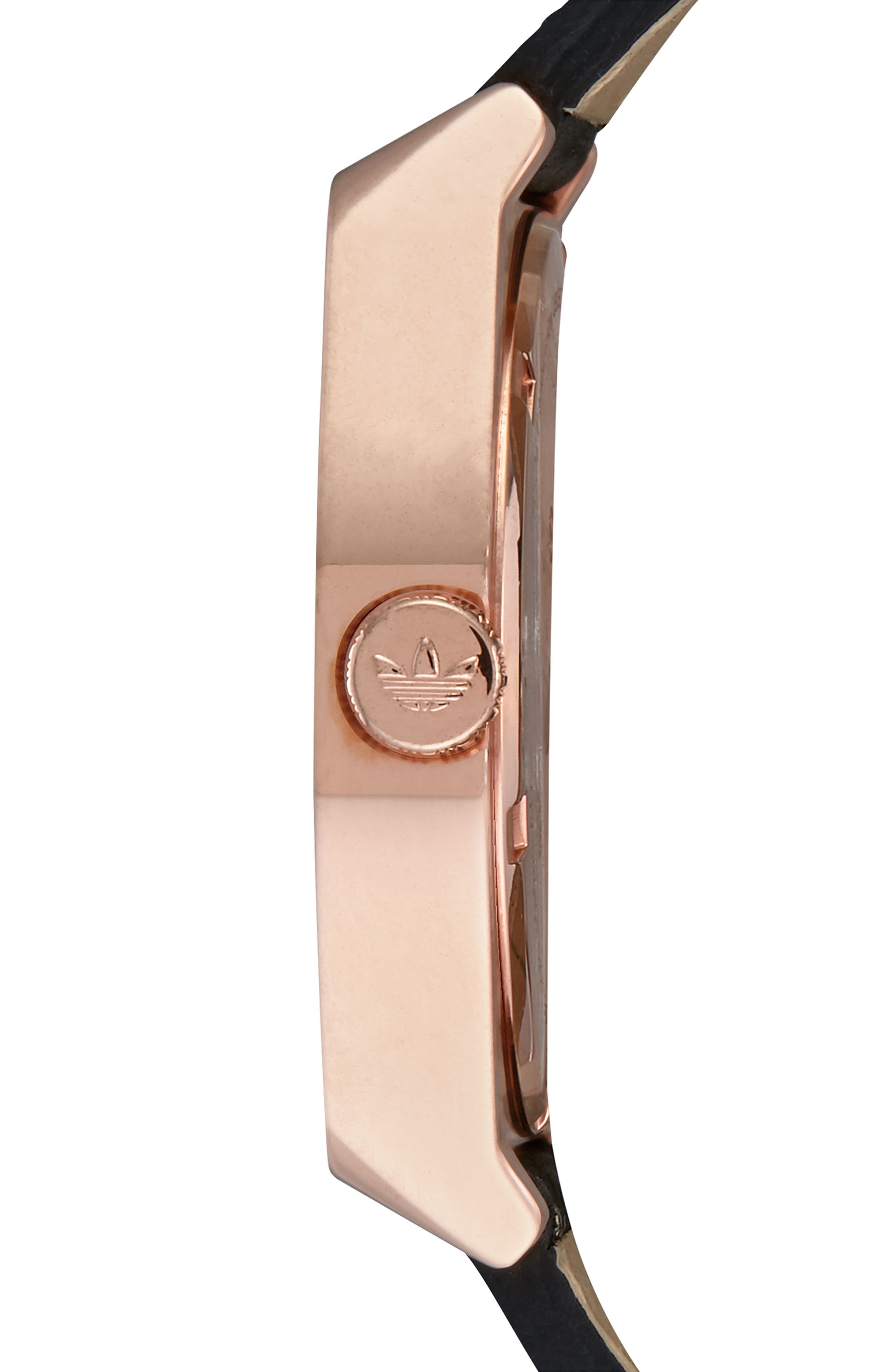Process Leather Strap Watch, 38mm,                             Alternate thumbnail 3, color,                             Rose Gold/ Navy/ Black