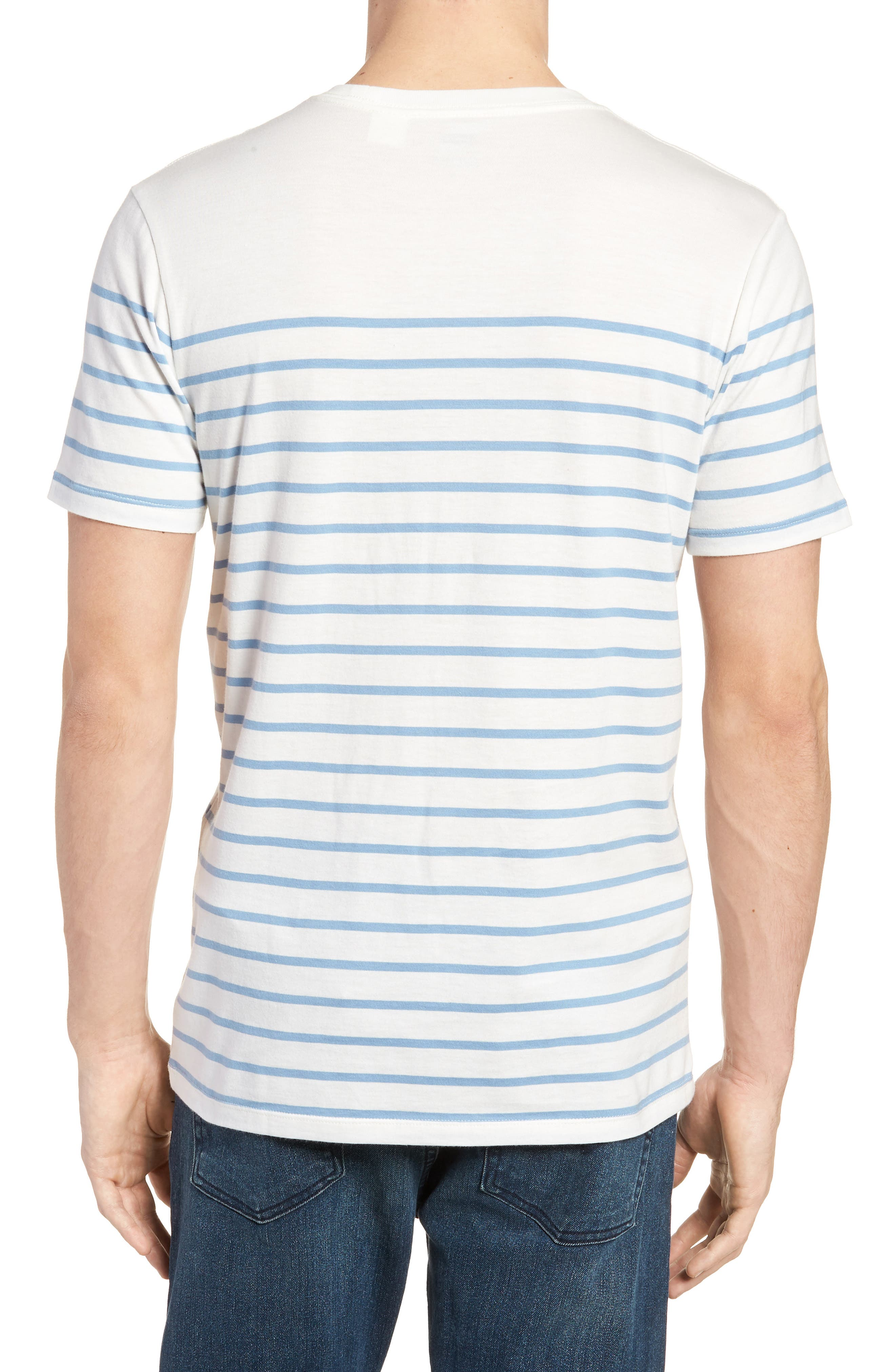 Sunset Pocket T-Shirt,                             Alternate thumbnail 2, color,                             Stripe Marshmallow / Allure