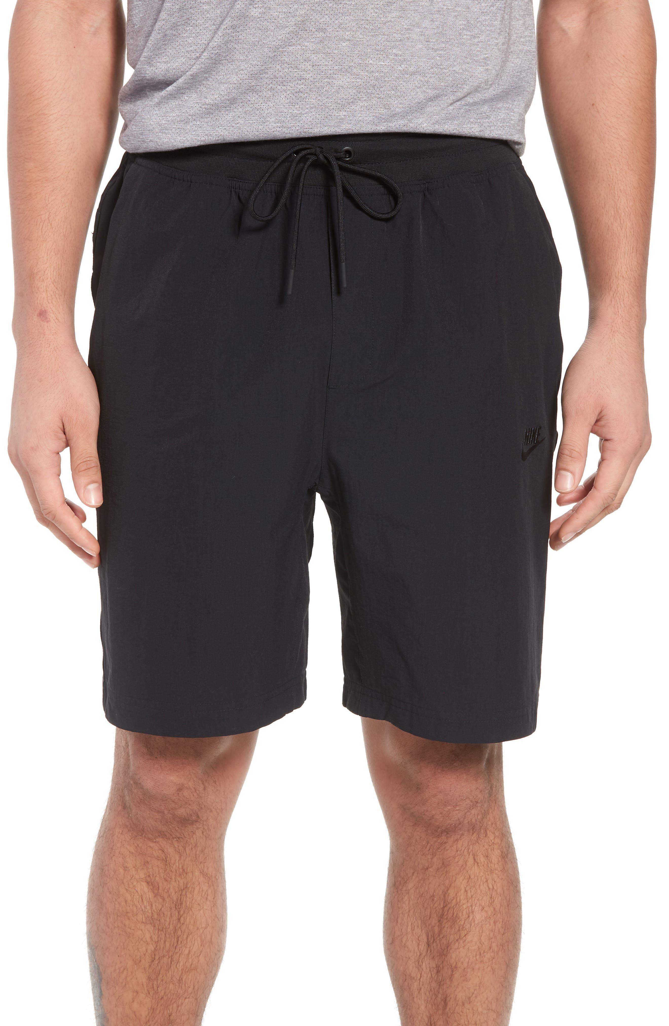 Sportswear Woven Shorts,                             Main thumbnail 1, color,                             Black/ Black