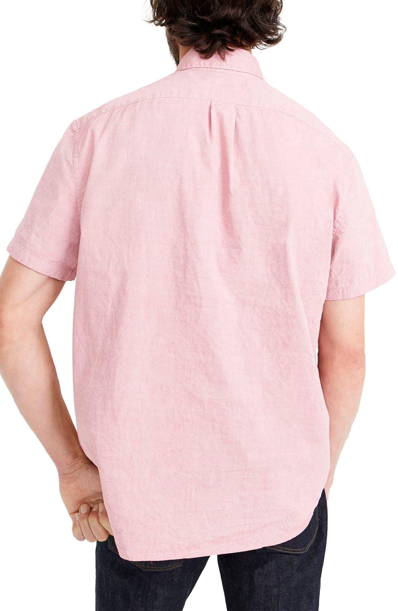 Stretch Secret Wash Short Sleeve Popover Shirt,                             Alternate thumbnail 2, color,                             Milan Red