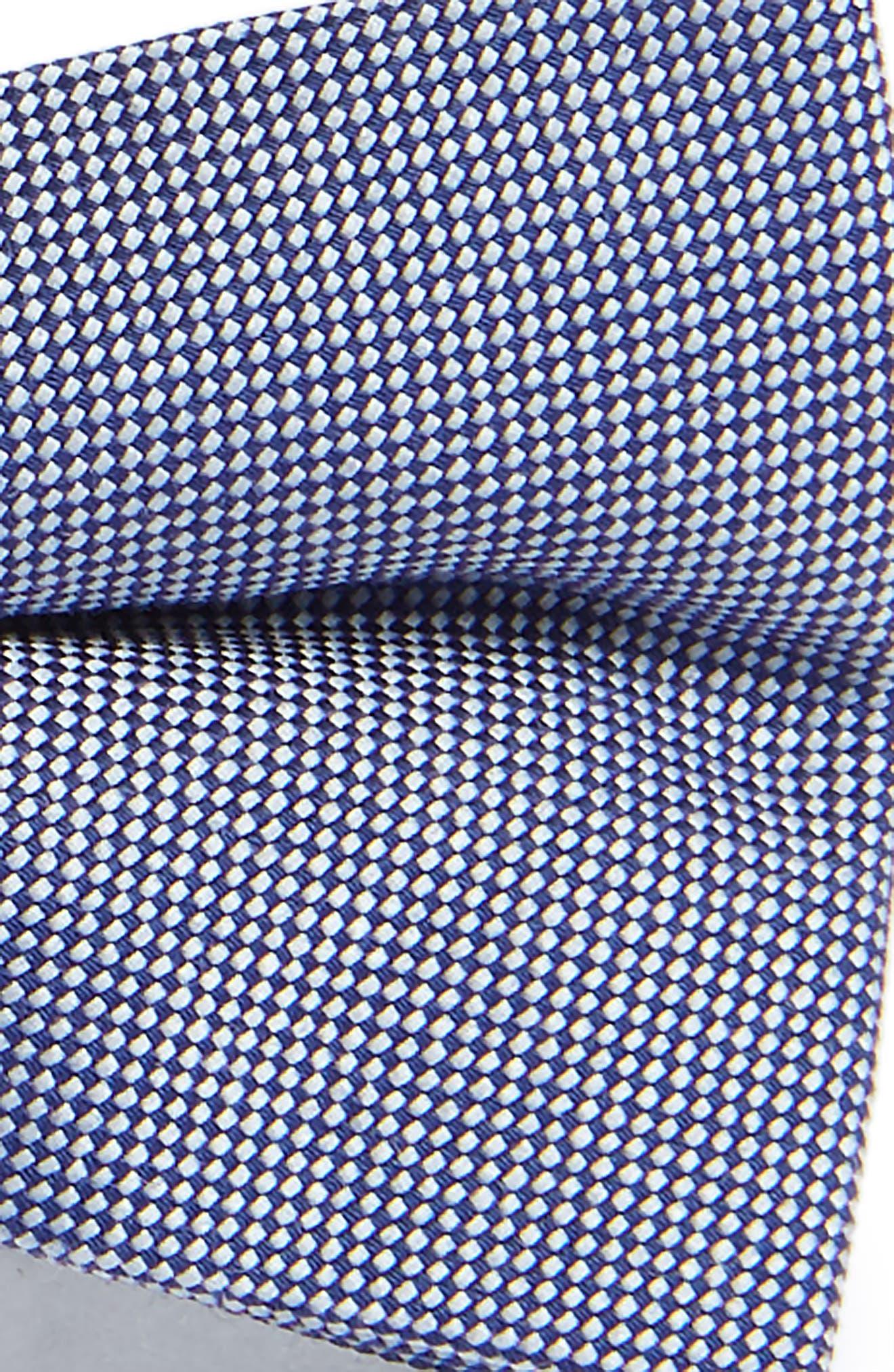 Chambray Silk Bow Tie,                             Alternate thumbnail 2, color,                             Navy