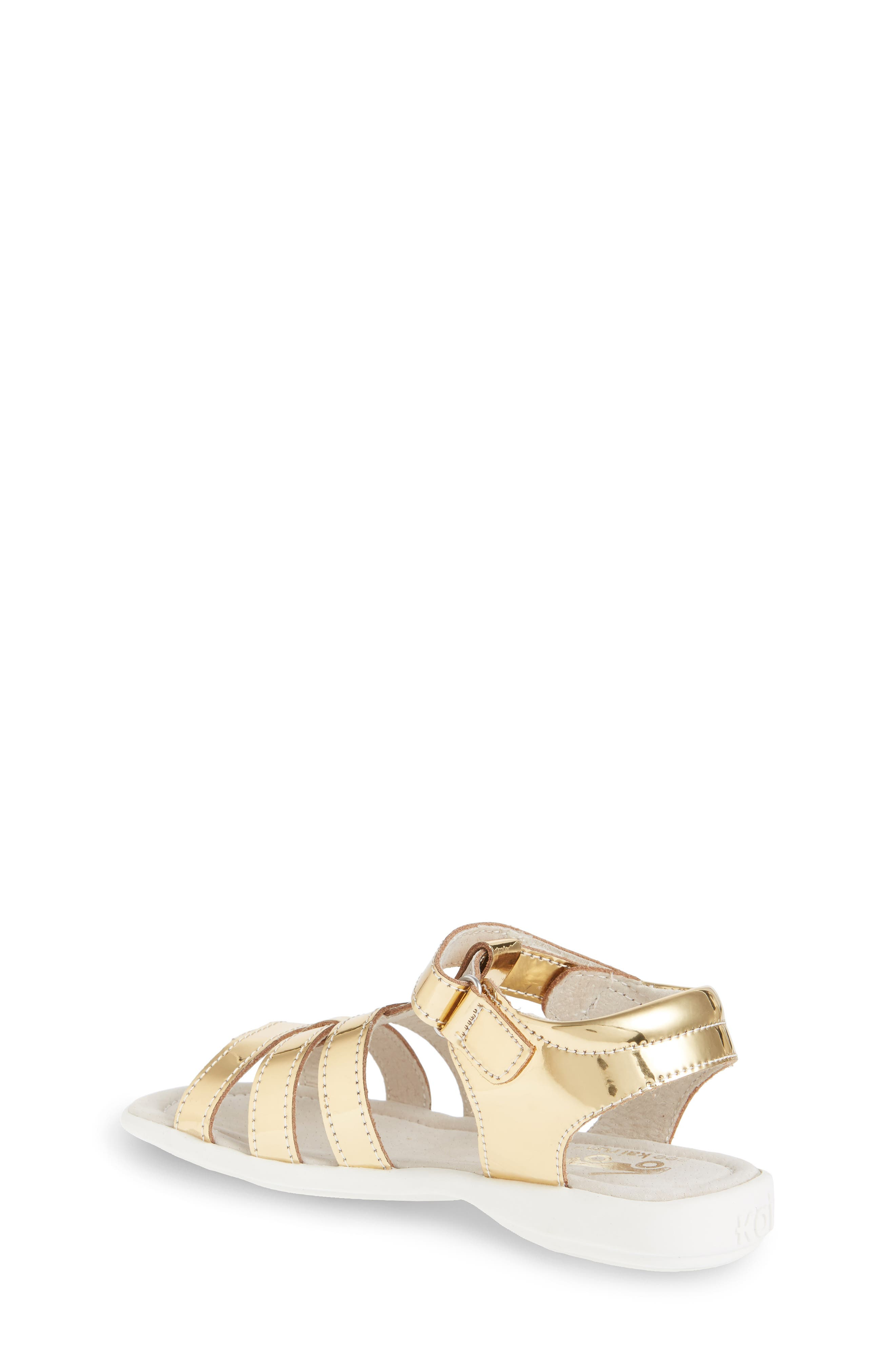 Fe Metallic Fisherman Sandal,                             Alternate thumbnail 2, color,                             Gold