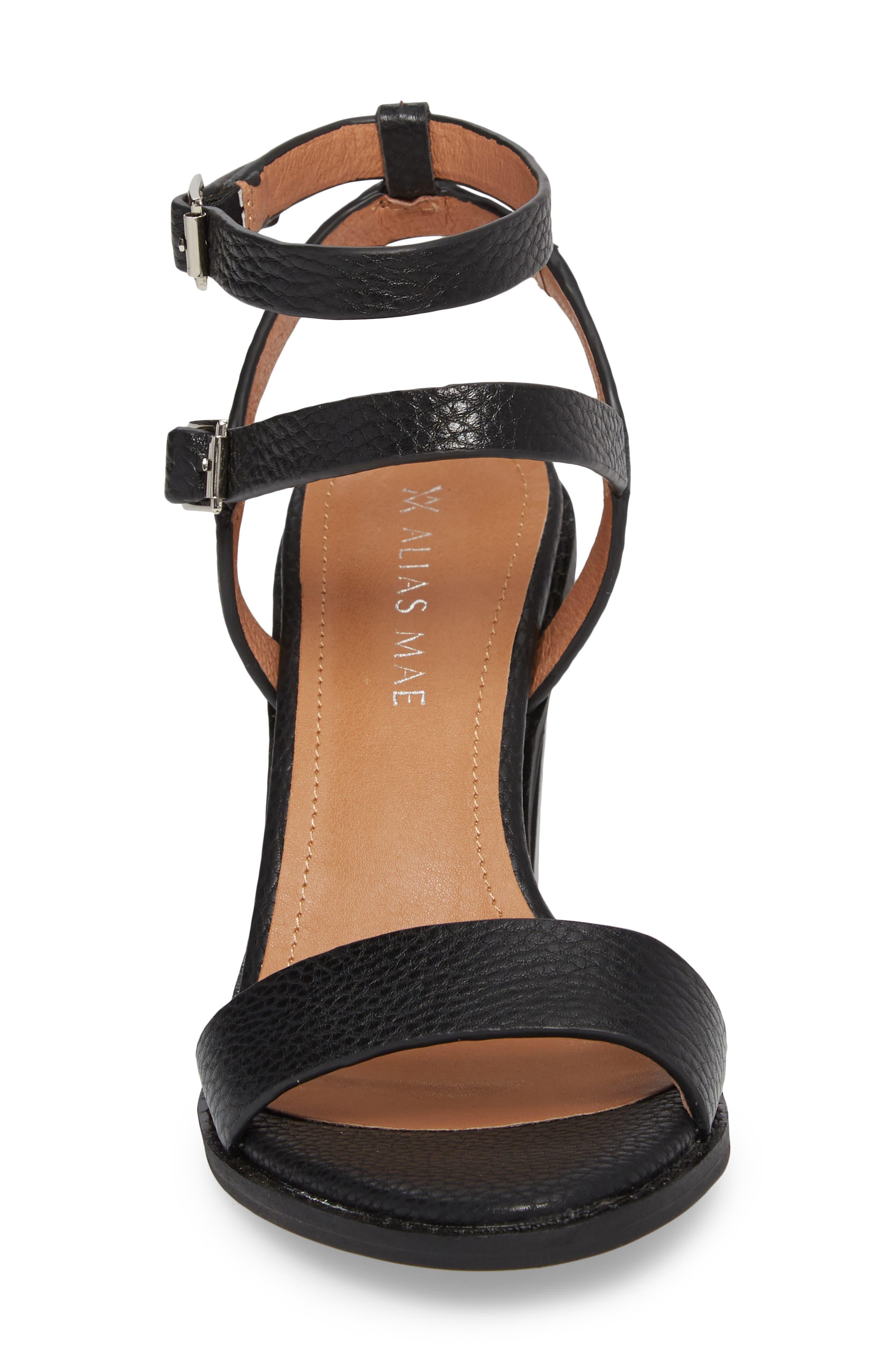 Elapse Sandal,                             Alternate thumbnail 4, color,                             Black Leather