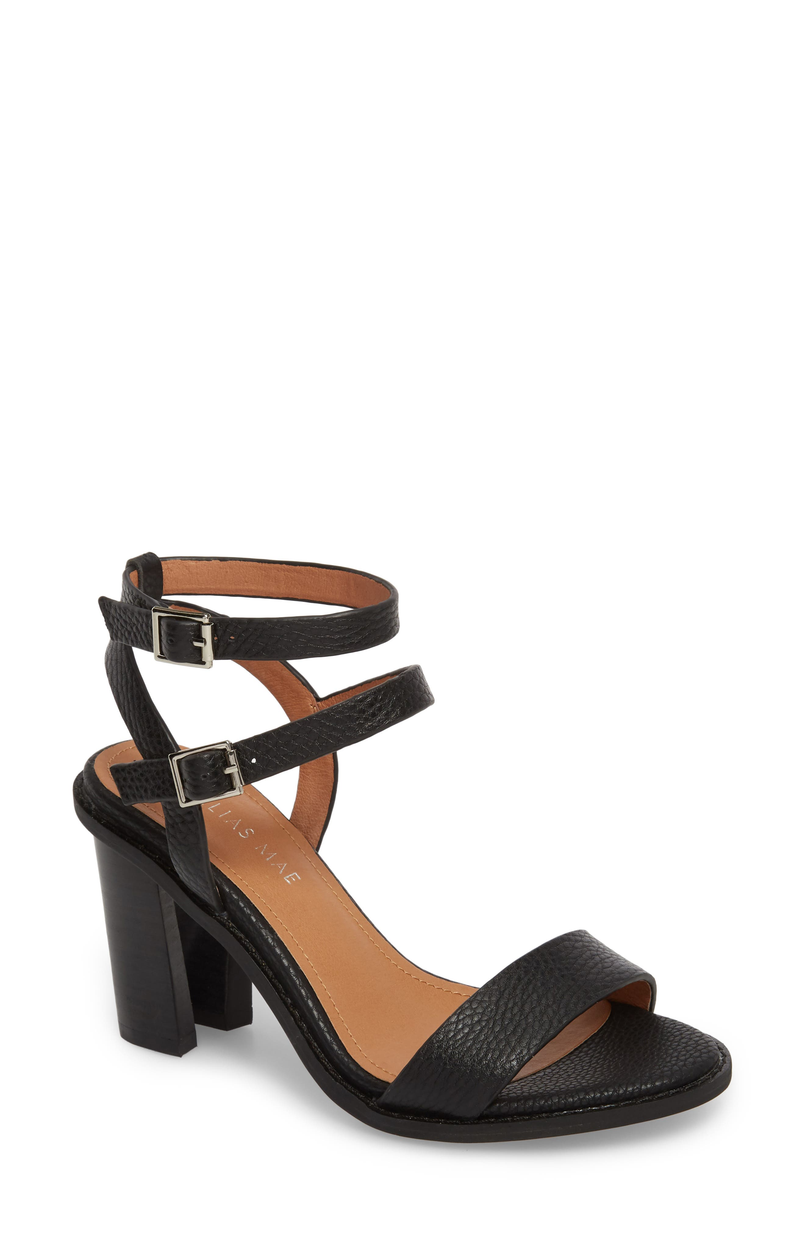 Elapse Sandal,                             Main thumbnail 1, color,                             Black Leather