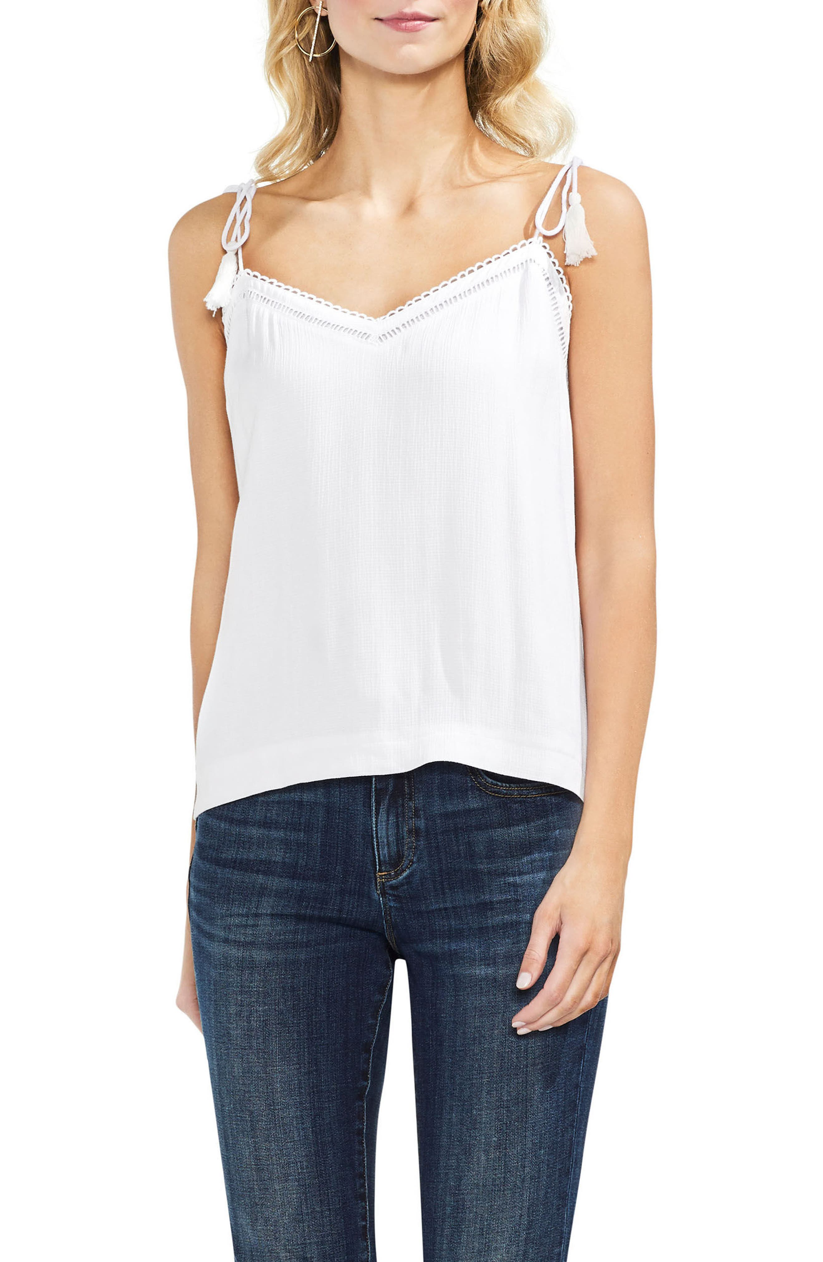 Tie Strap Camisole,                             Main thumbnail 1, color,                             Ultra White