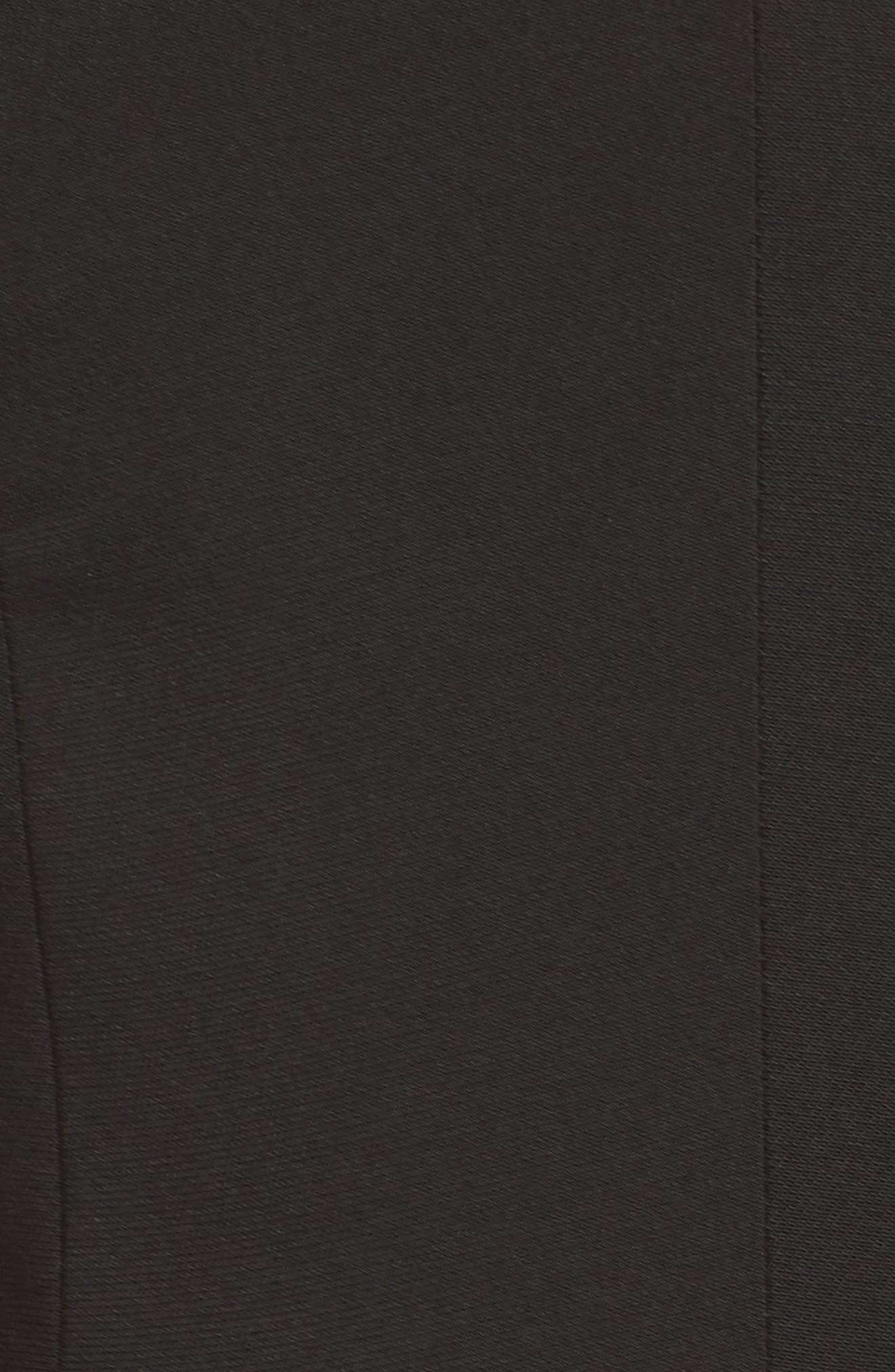 Tamika Sleeveless Fit & Flare Dress,                             Alternate thumbnail 6, color,                             Black