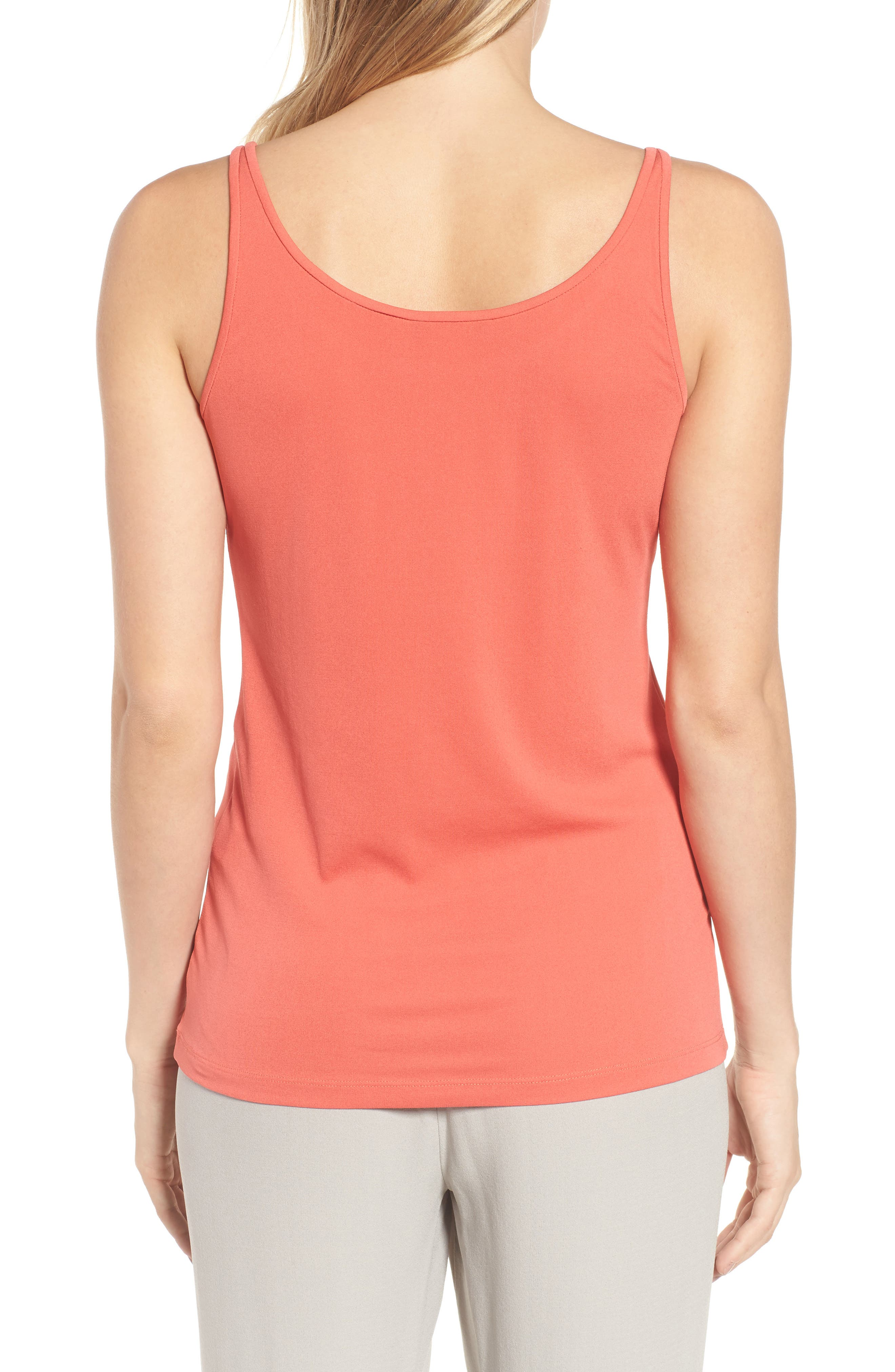 Long Scoop Neck Camisole,                             Alternate thumbnail 2, color,                             Mimosa