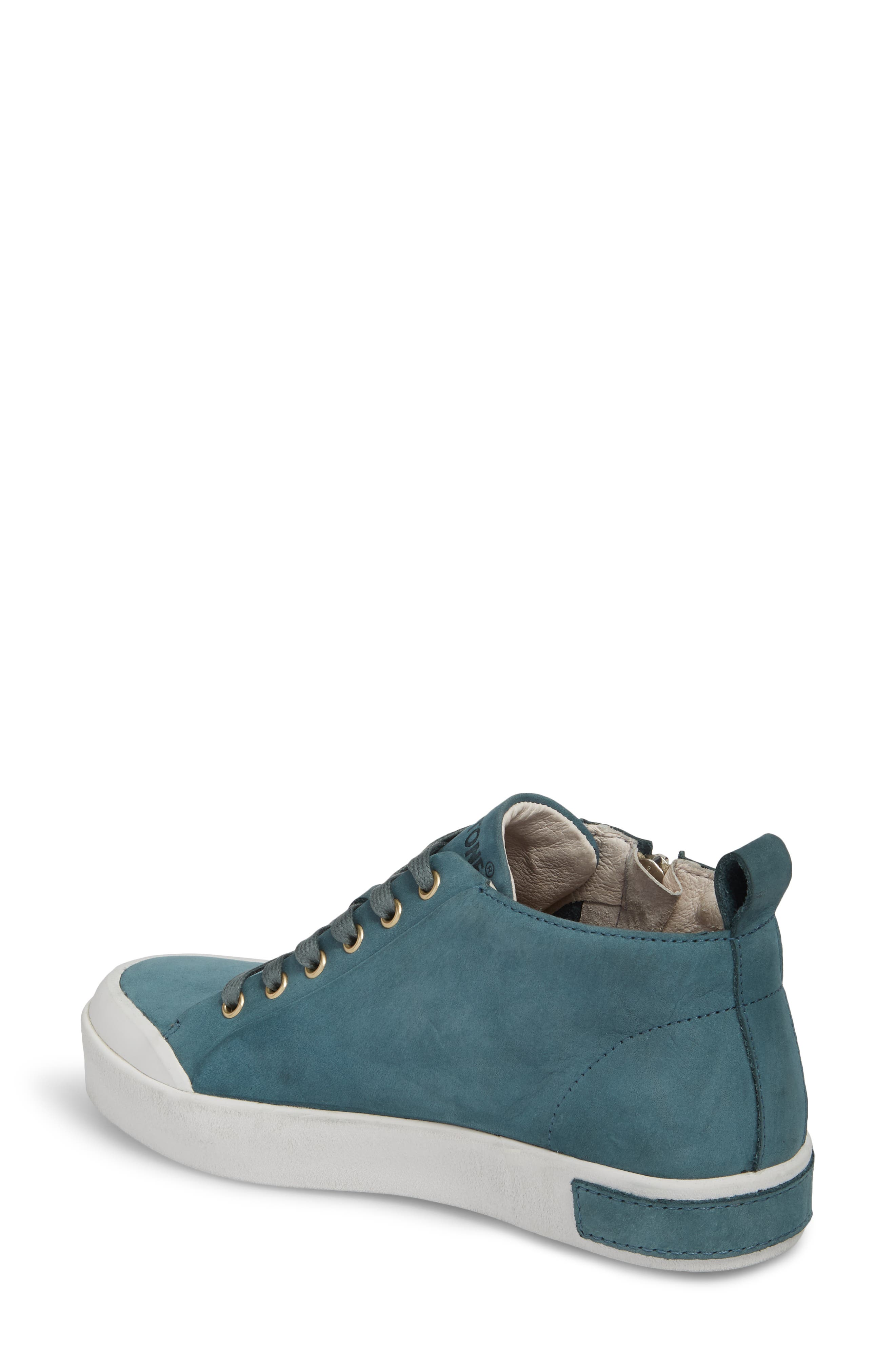 PL83 Mid Rise Sneaker,                             Alternate thumbnail 2, color,                             Mallard Blue Leather