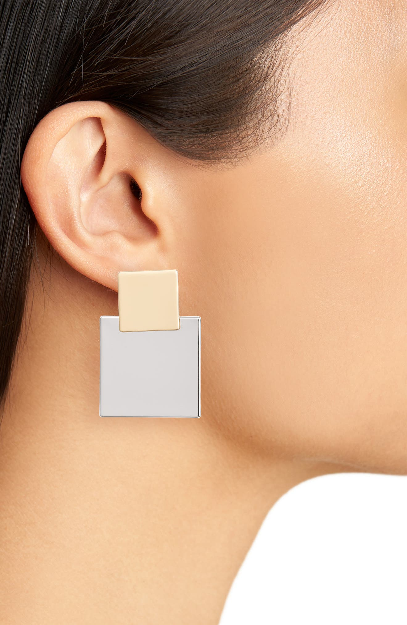 Viceroy Square Earrings,                             Alternate thumbnail 2, color,                             Two-Tone