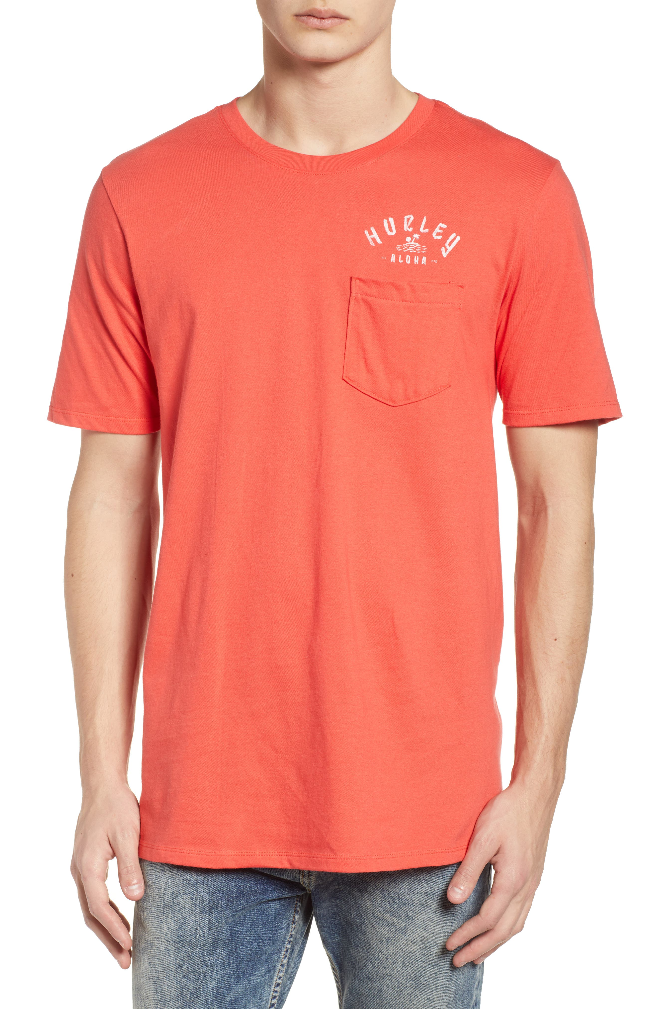 Plate Lunch Pocket T-Shirt,                         Main,                         color, Track Red